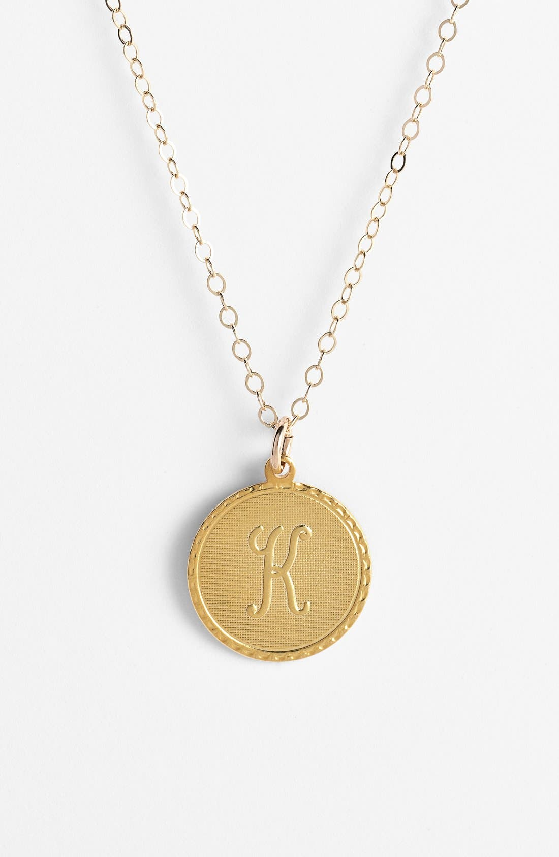 'Dalton' Initial Pendant Necklace,                         Main,                         color, Gold - K