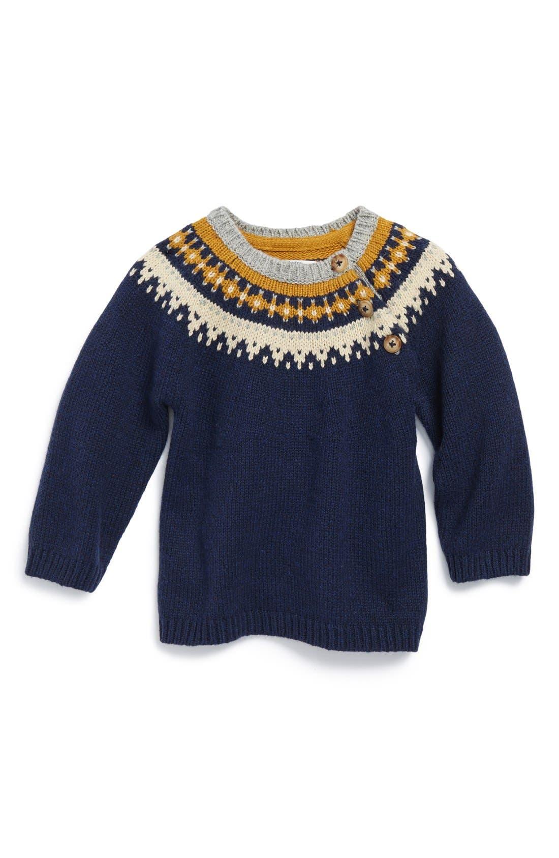 Mini Boden Fair Isle Sweater (Baby Boys) | Nordstrom