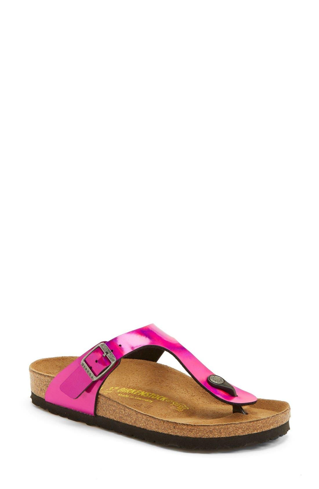 'Gizeh' Thong Sandal,                         Main,                         color, Pink