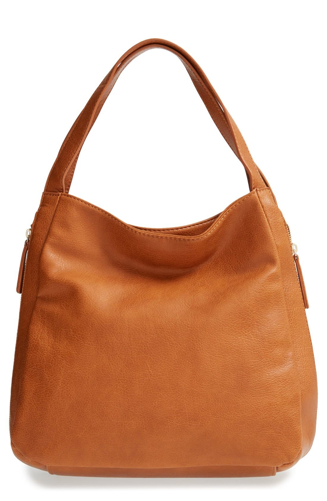 Main Image - BP. Side Zip Faux Leather Tote