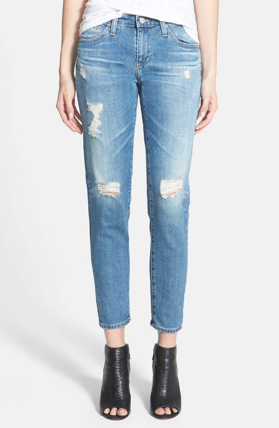 Alternate Image 1 Selected - AG 'Stilt' Cigarette Leg Jeans (17-Year Riot)