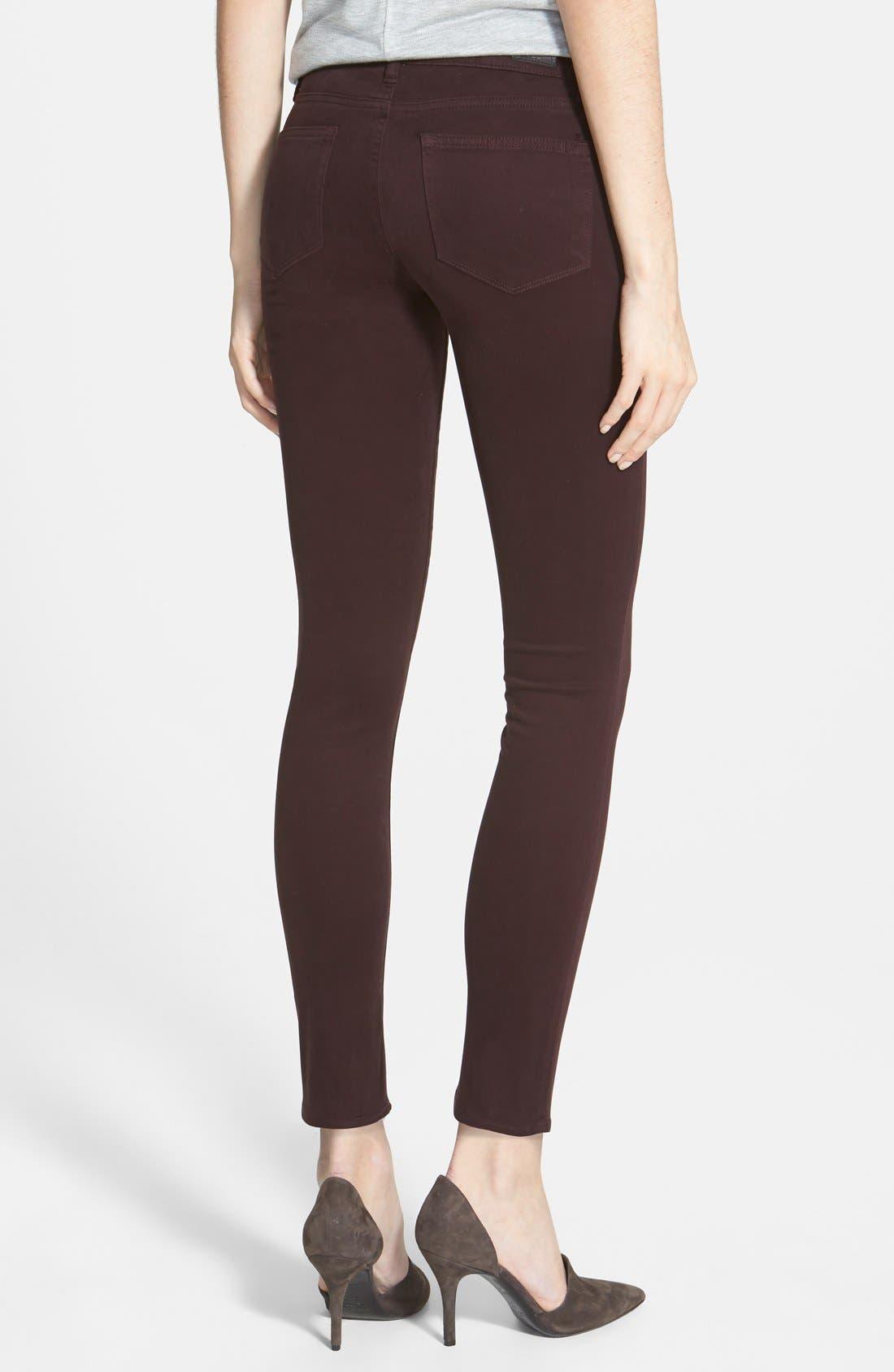 Alternate Image 2  - Paige Denim 'Verdugo' Ultra Skinny Jeans (Dark Wine)