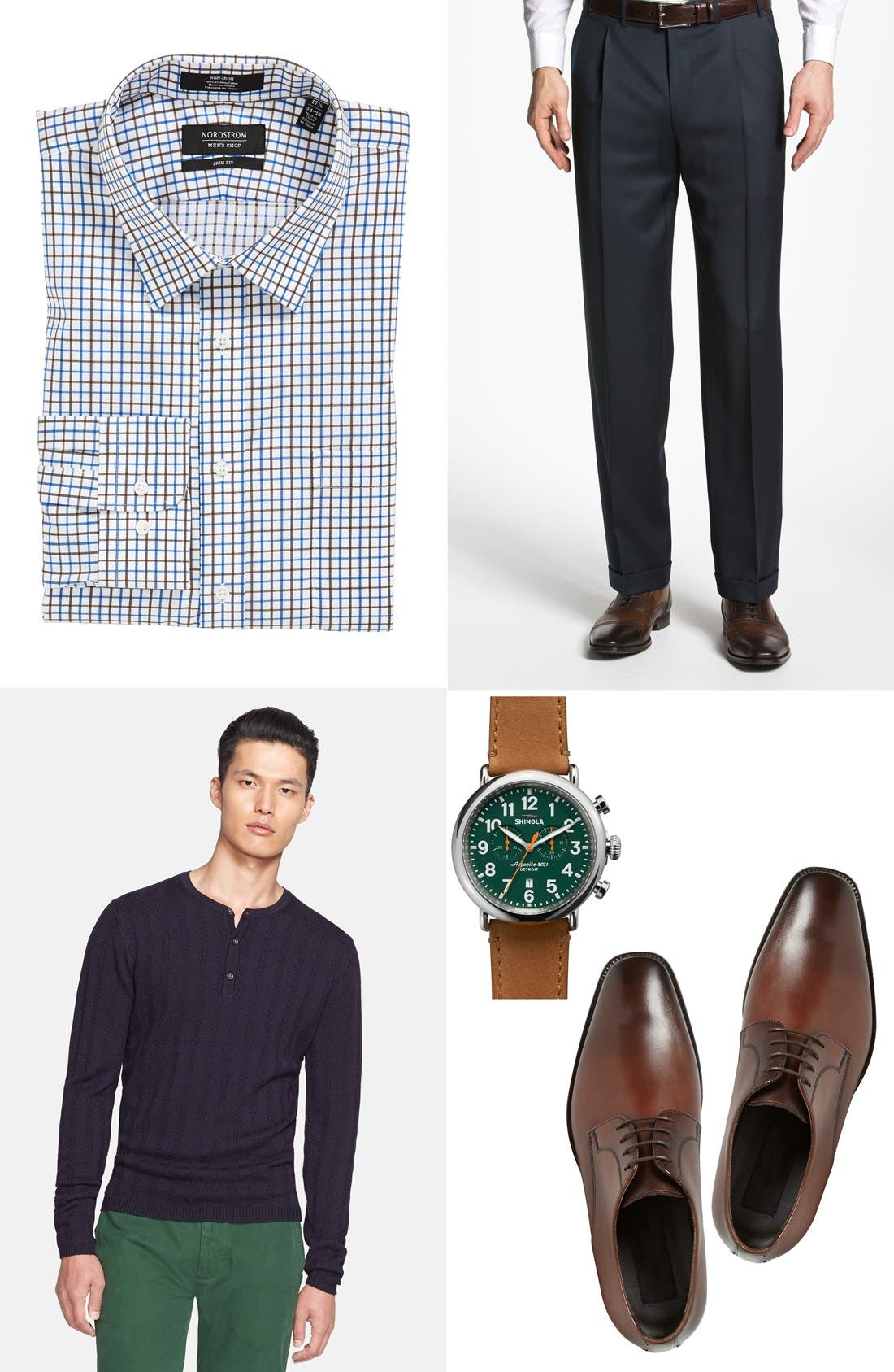 Alternate Image 2  - Nordstrom Trim Fit Non-Iron Check Dress Shirt (Online Only)