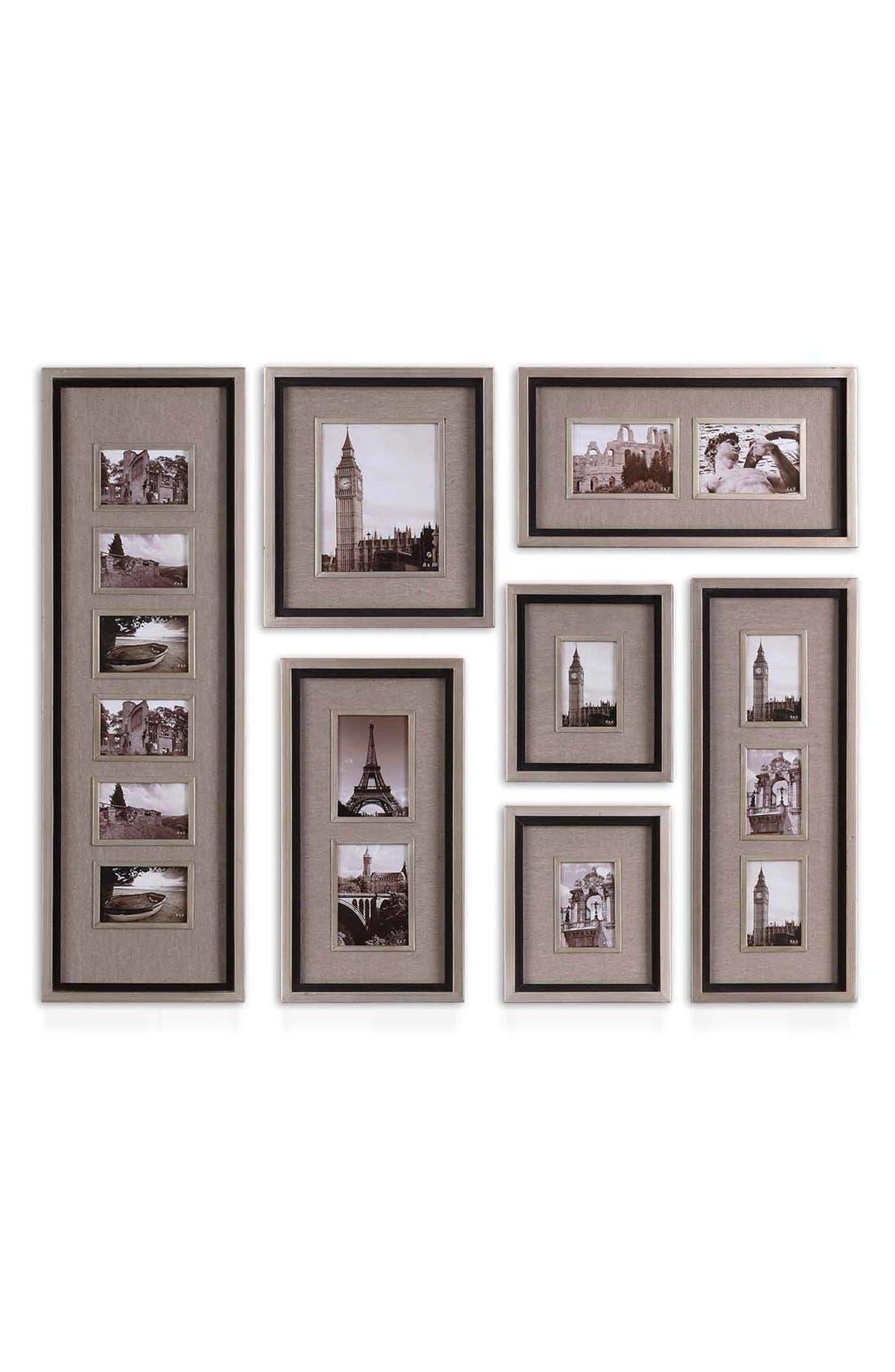 Massena Set of 7 Picture Frames,                         Main,                         color, Grey