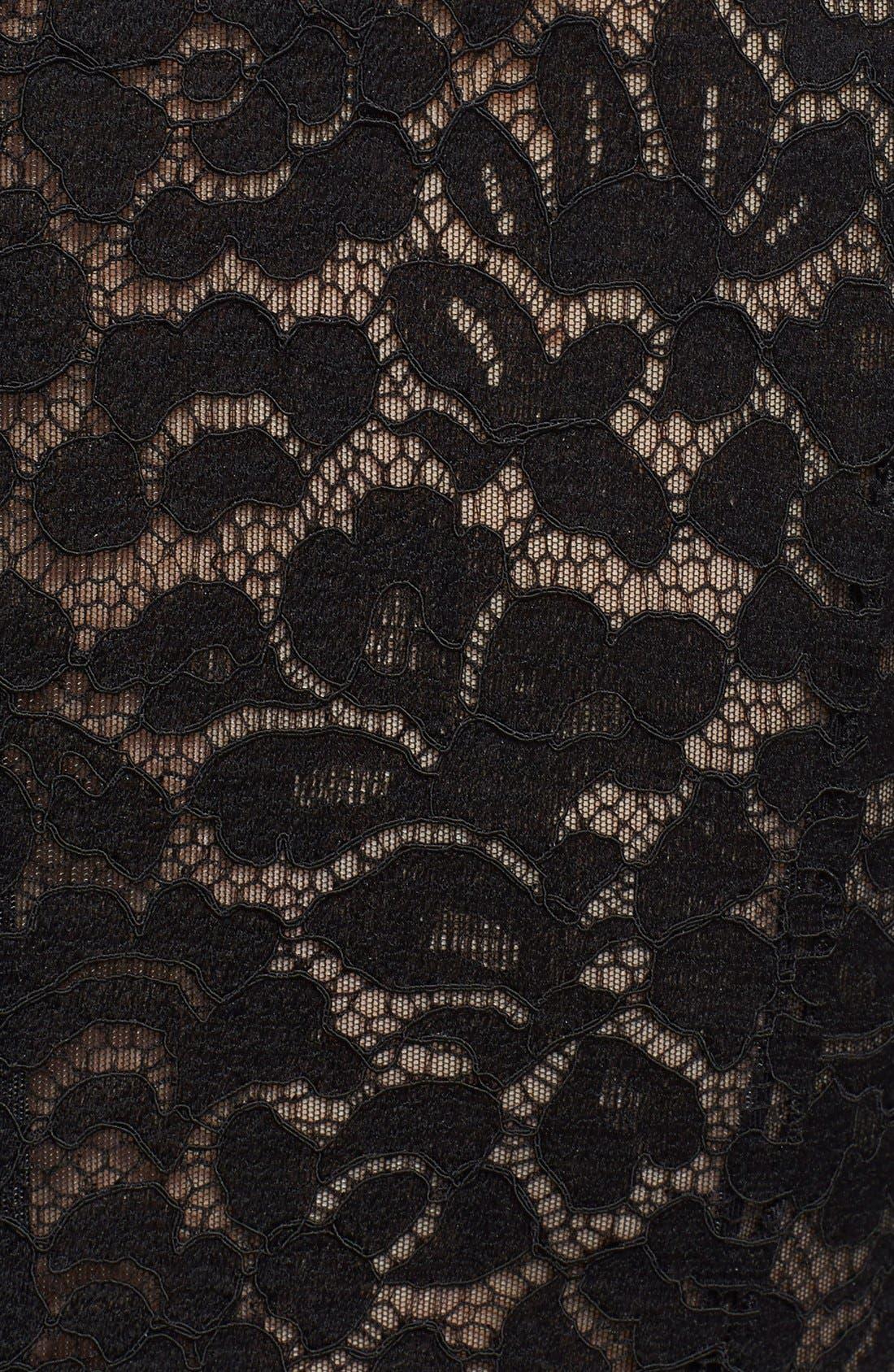 Alternate Image 3  - Michael Kors Illusion Lace Crepe Cady Fishtail Gown