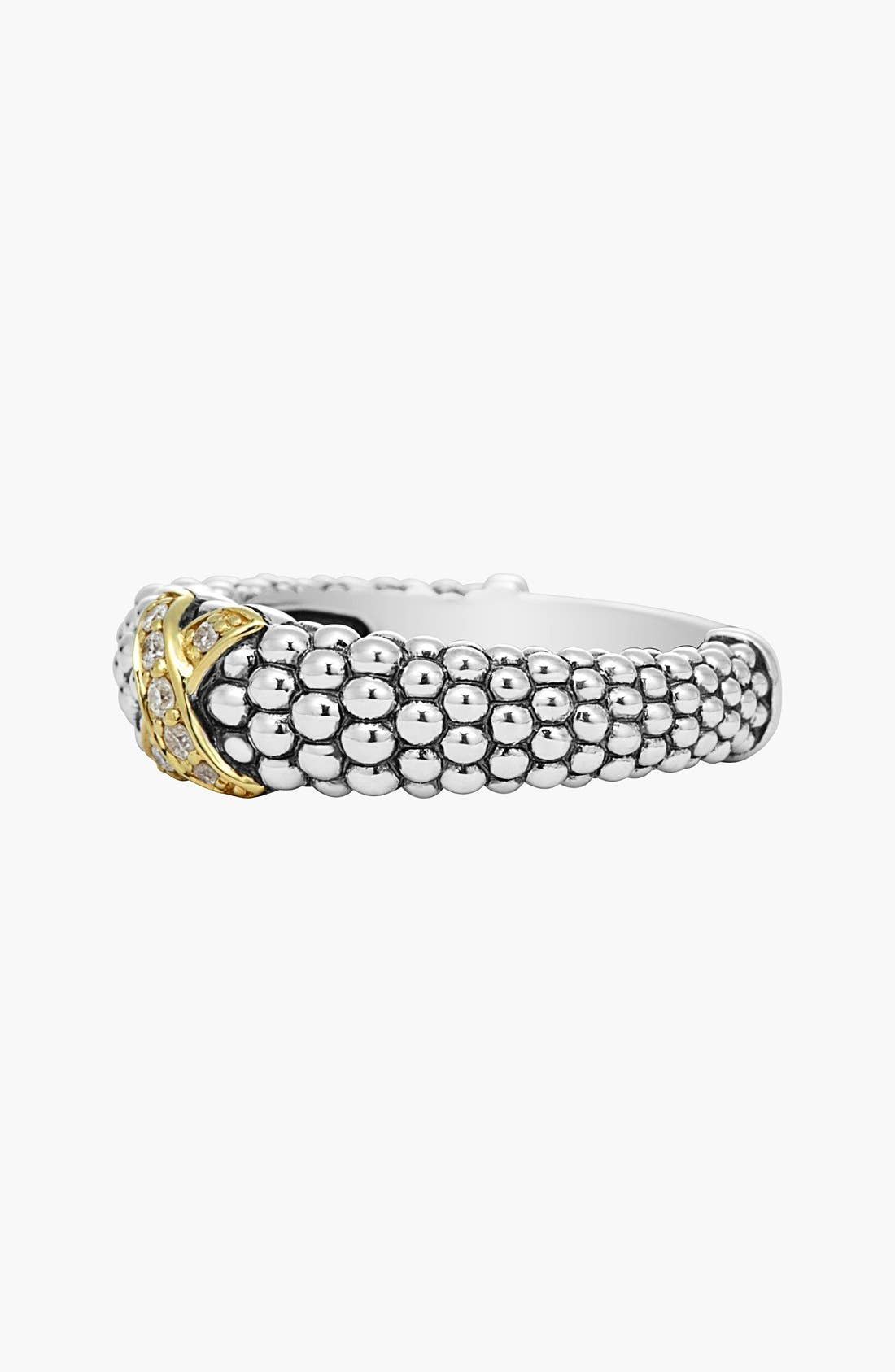 Alternate Image 2  - LAGOS 'X' Diamond & Caviar­™' Two Tone Ring