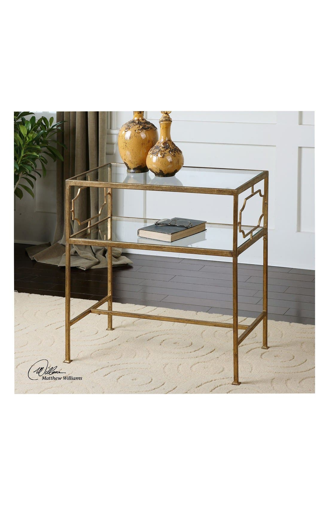 'Genell' Side Table,                             Alternate thumbnail 2, color,                             Gold