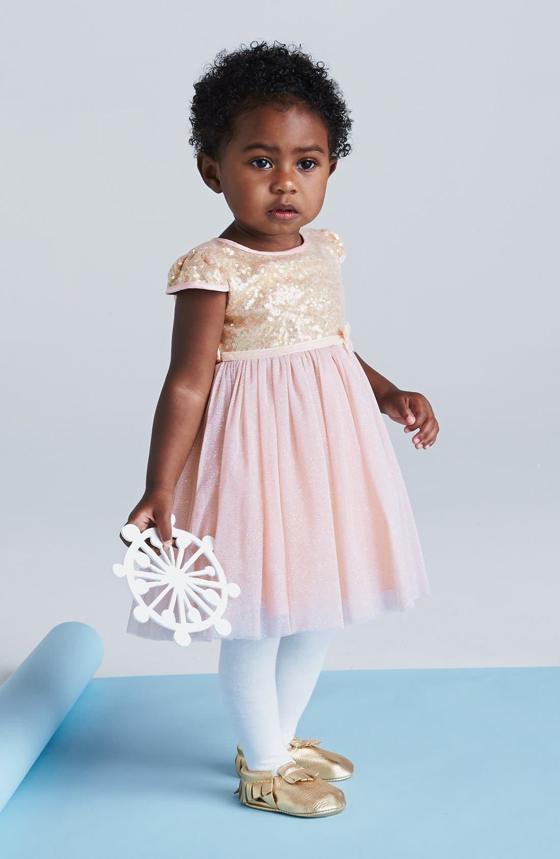 Alternate Image 3  - Dorissa Tulle Sequin Dress (Baby Girls)