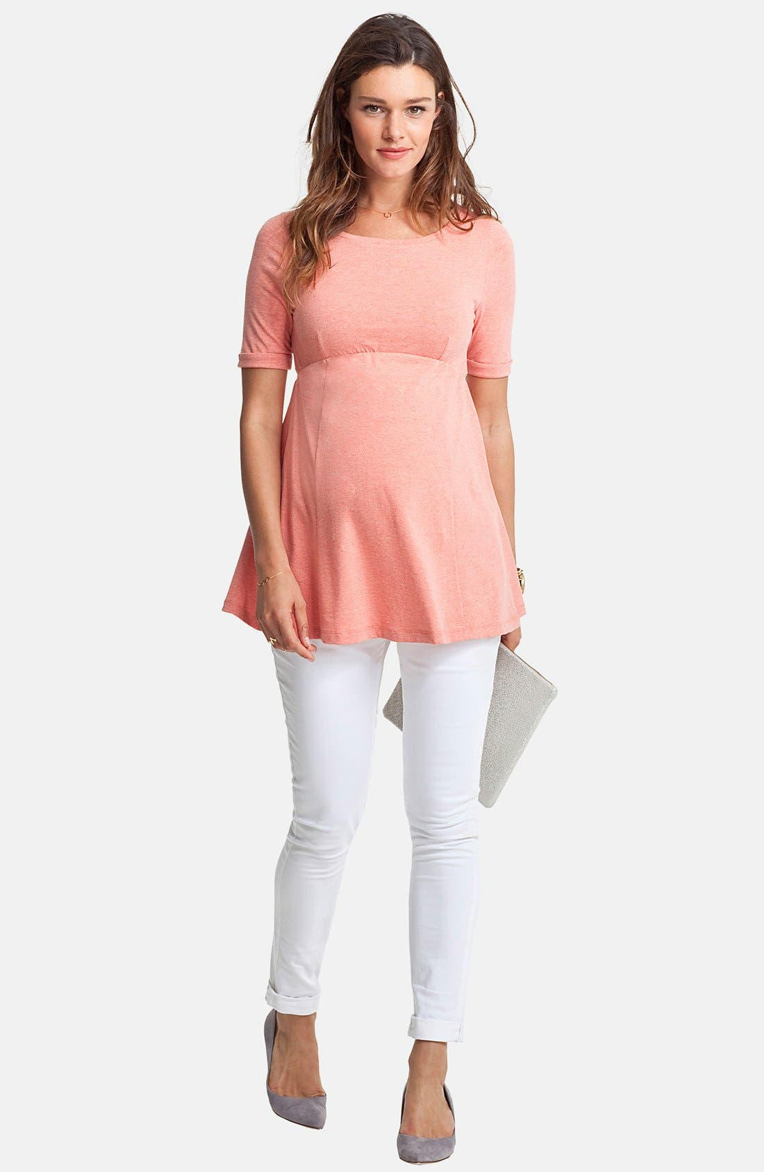 Alternate Image 1 Selected - Isabella Oliver 'Zadie' Stretch Maternity Skinny Jeans