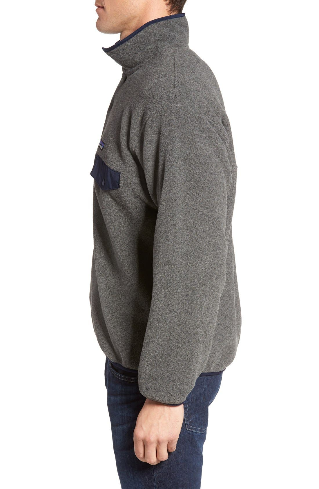 Synchilla<sup>®</sup> Snap-T<sup>®</sup> Pullover,                             Alternate thumbnail 3, color,                             Nickel/ Navy Blue