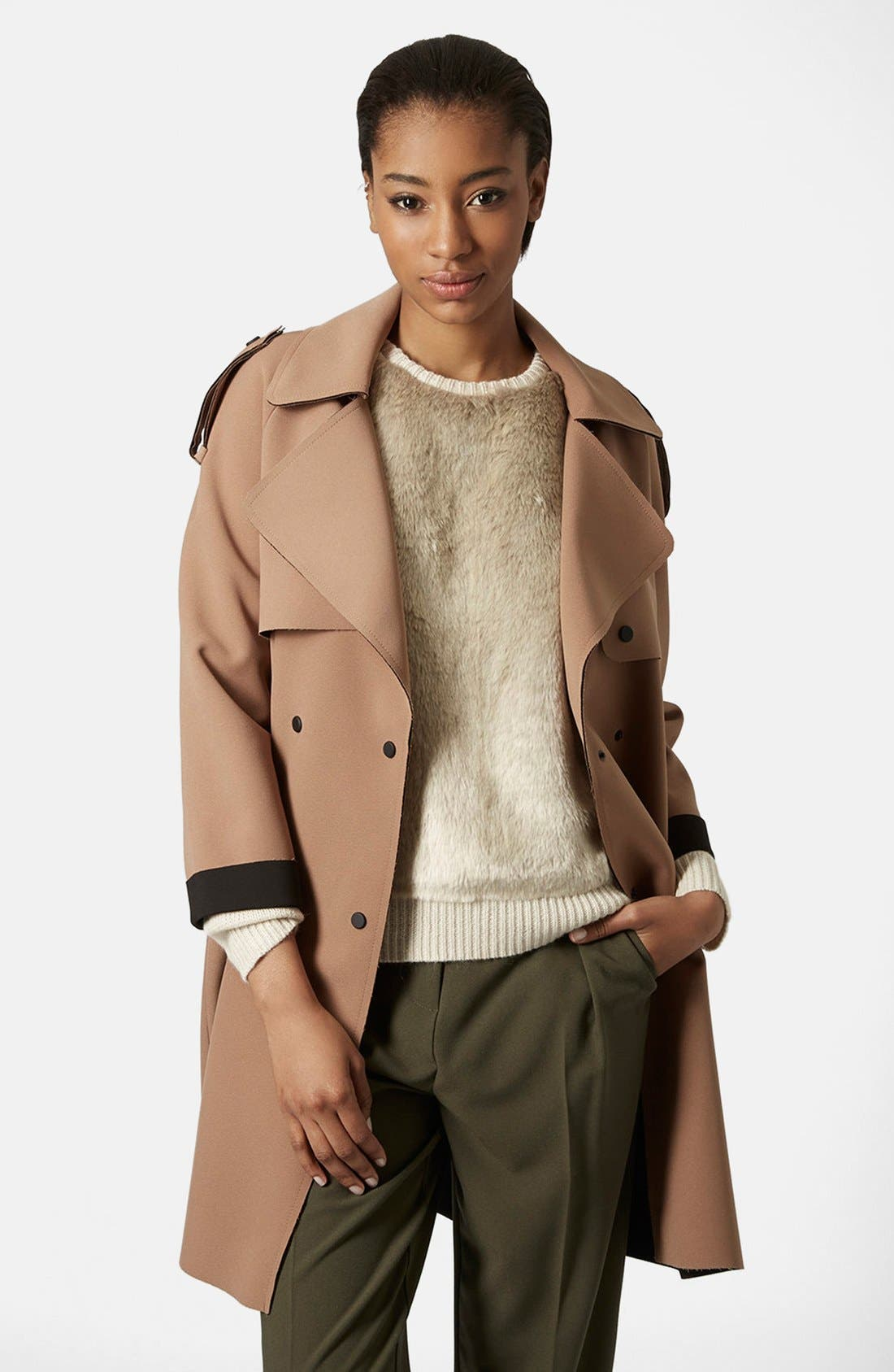 Main Image - Topshop 'LBonded' Trench Coat