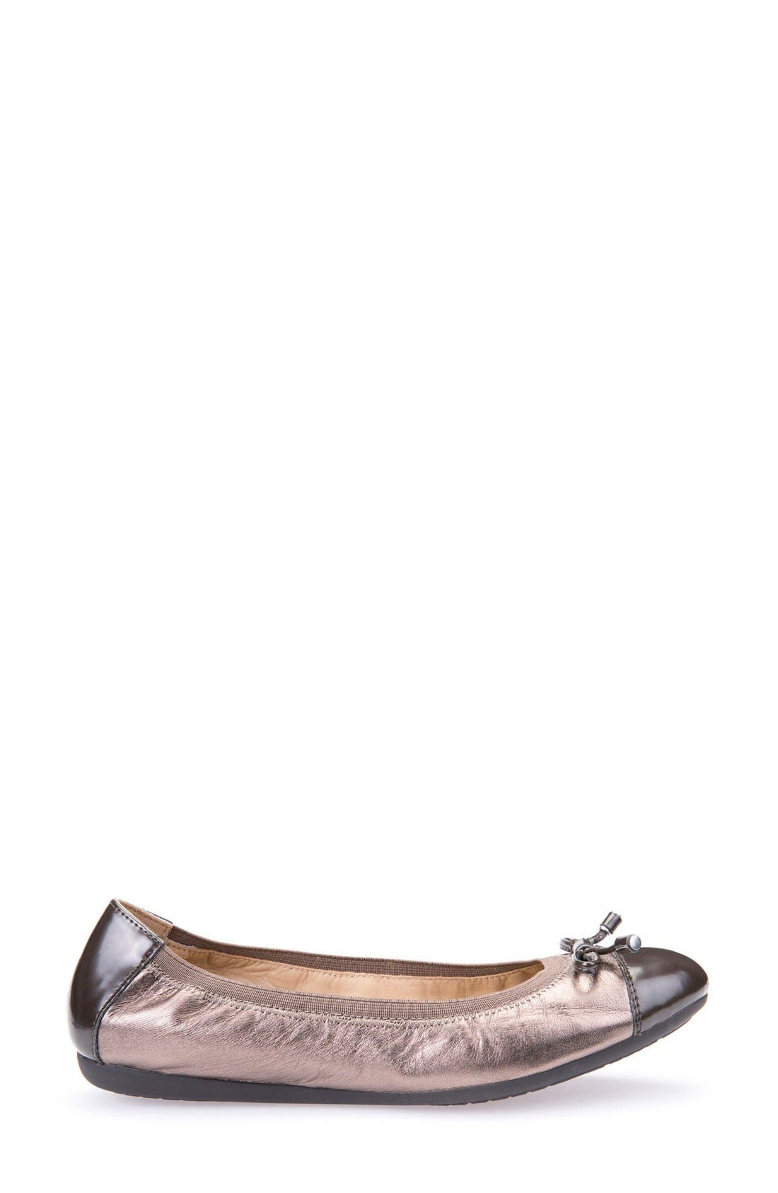 Alternate Image 3  - Geox Lola Fit Cap Toe Ballet Flat (Women)