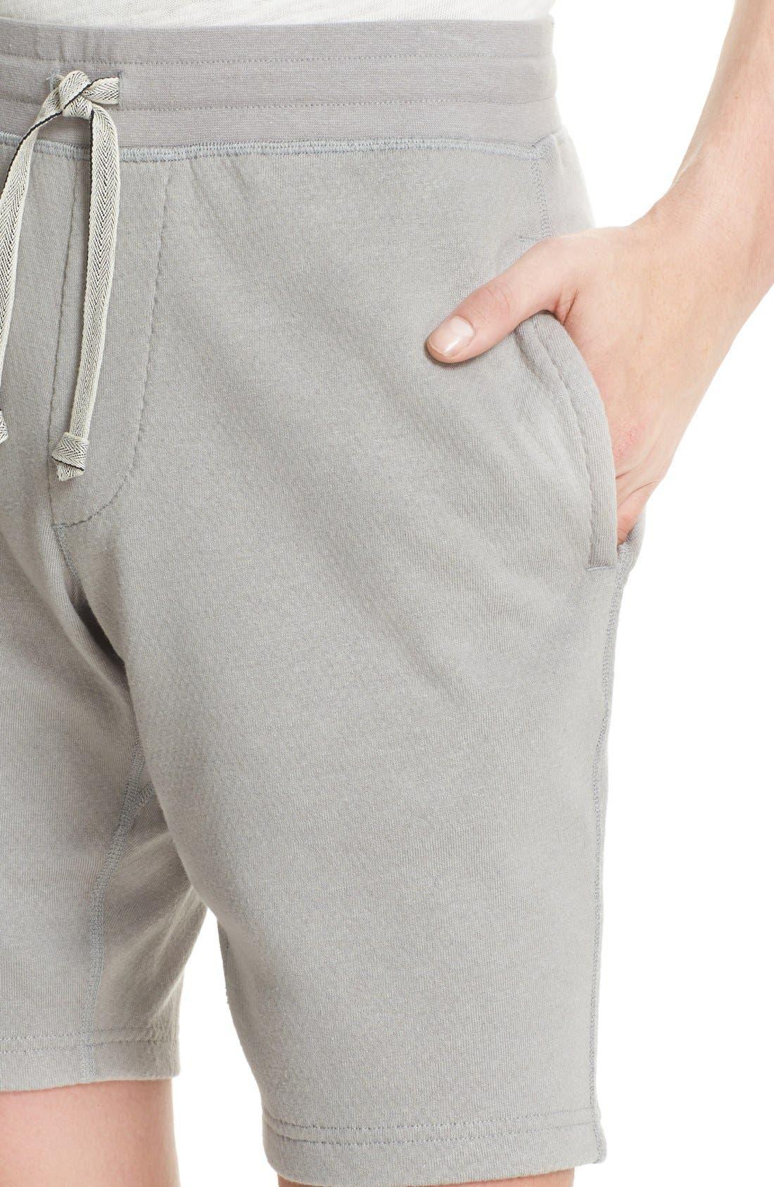 Bonded Jersey Shorts,                             Alternate thumbnail 4, color,                             Grey