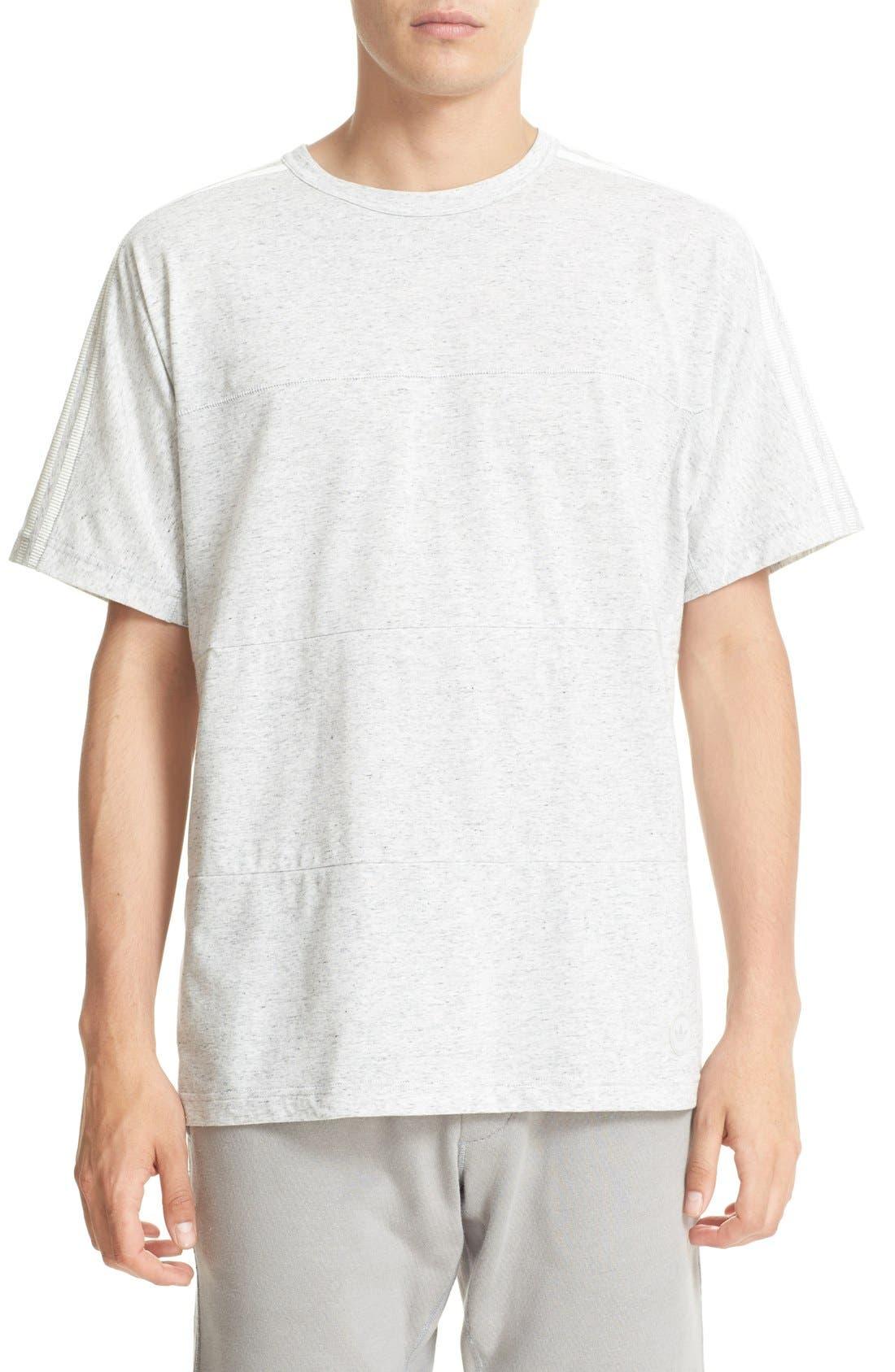Cotton Blend T-Shirt,                         Main,                         color, Off White