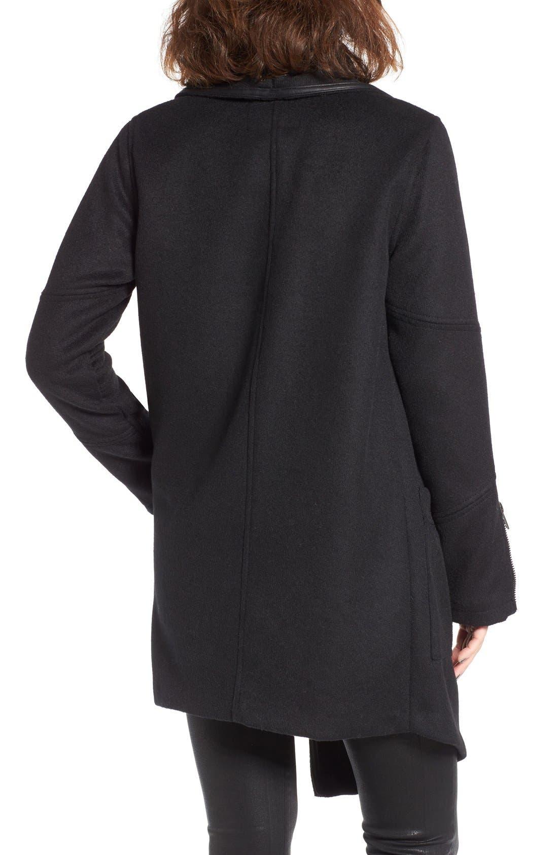Alternate Image 2  - BLANKNYC Blackout Wool Blend Drape Jacket