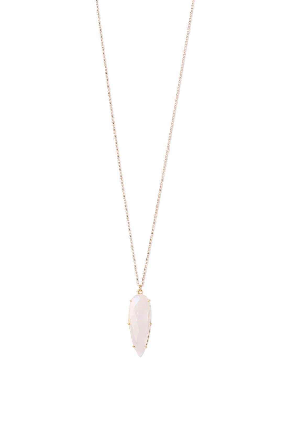 'Prism' Long Pendant Necklace,                             Main thumbnail 1, color,                             Gold/Moonstone