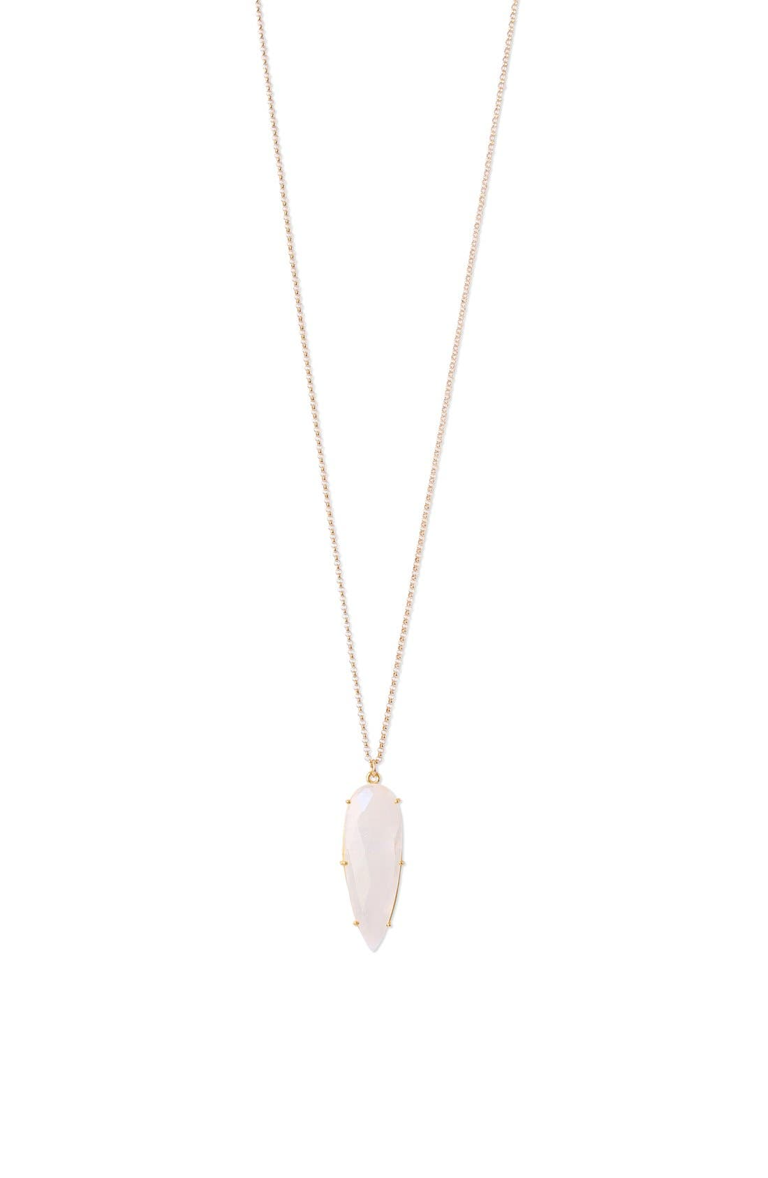 'Prism' Long Pendant Necklace,                         Main,                         color, Gold/Moonstone