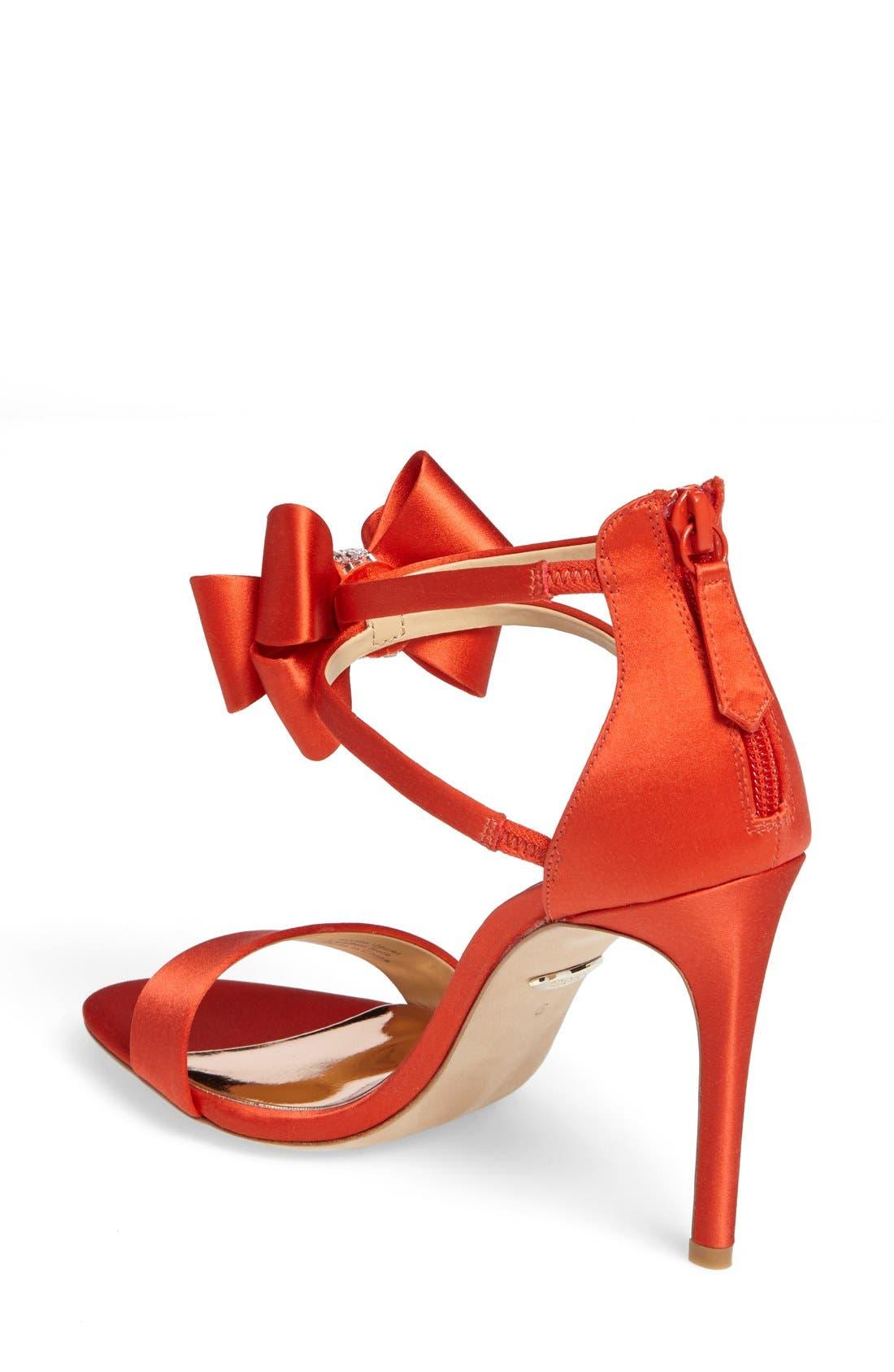 Alternate Image 2  - Badgley Mischka Beauty Bow Ankle Strap Sandal