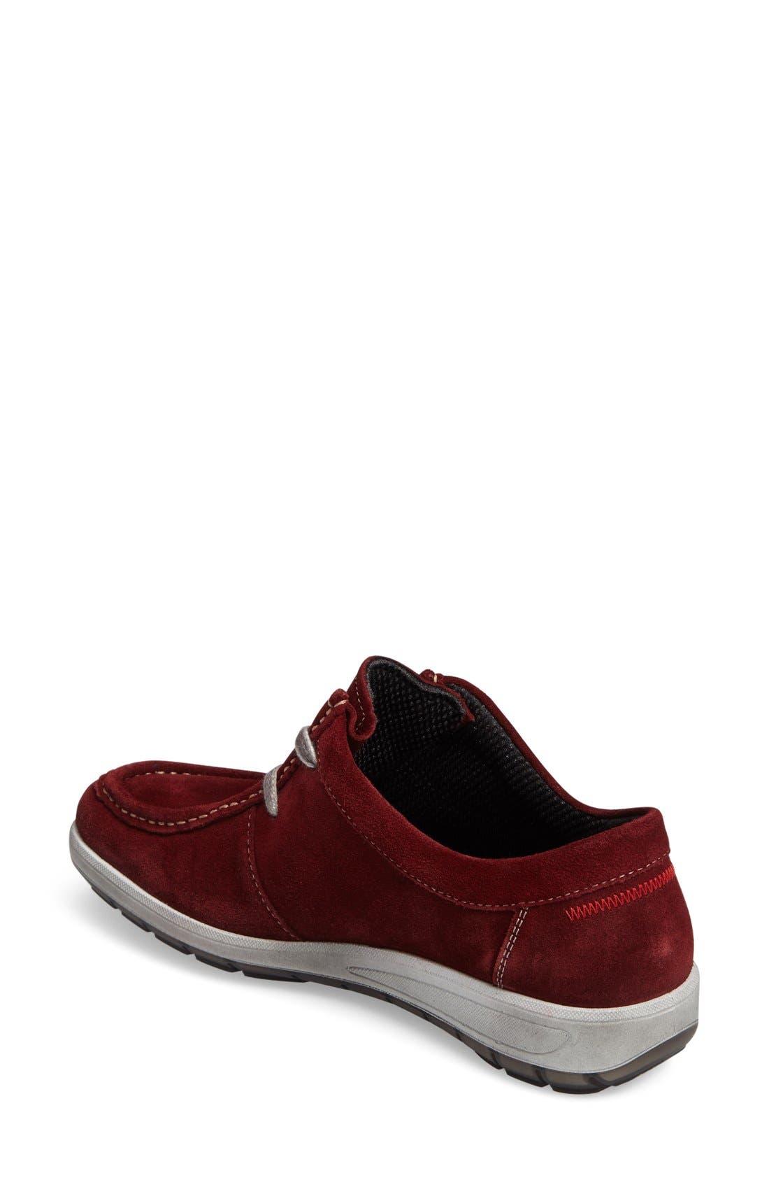 Trista Sneaker,                             Alternate thumbnail 2, color,                             Burgundy Suede