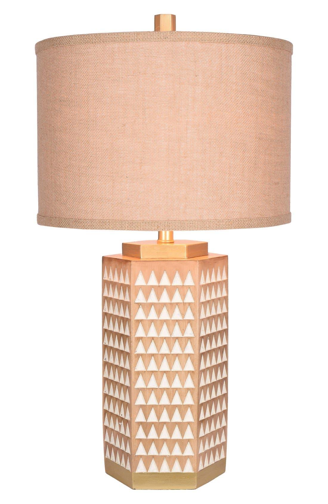 JAlexander Kinsley Faux Wood Table Lamp,                         Main,                         color, Beige