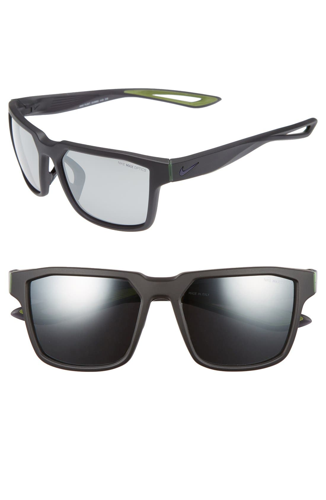 FLEET 55MM SPORT SUNGLASSES - MATTE OBSIDIAN