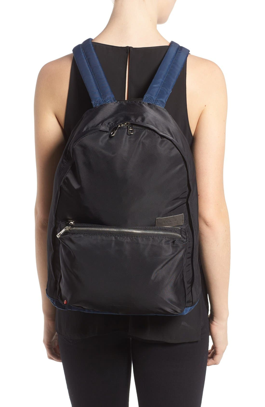 The Heights Adams Backpack,                             Alternate thumbnail 2, color,                             Black/ Navy