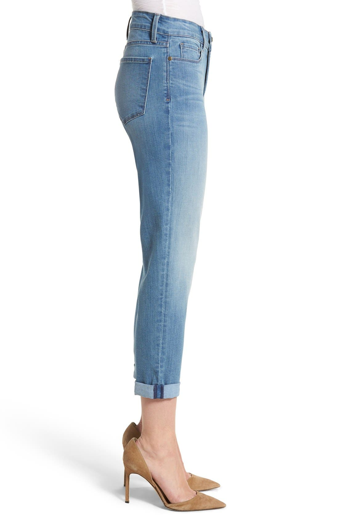 Alina Roll Cuff Stretch Ankle Skinny Jeans,                             Alternate thumbnail 4, color,                             Pampelonne