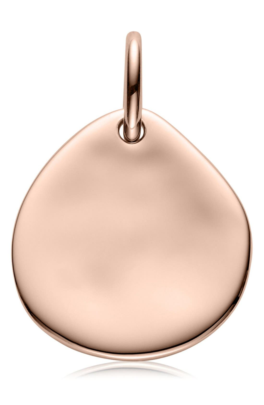 Engravable Siren Small Pendant,                             Main thumbnail 1, color,                             Rose Gold