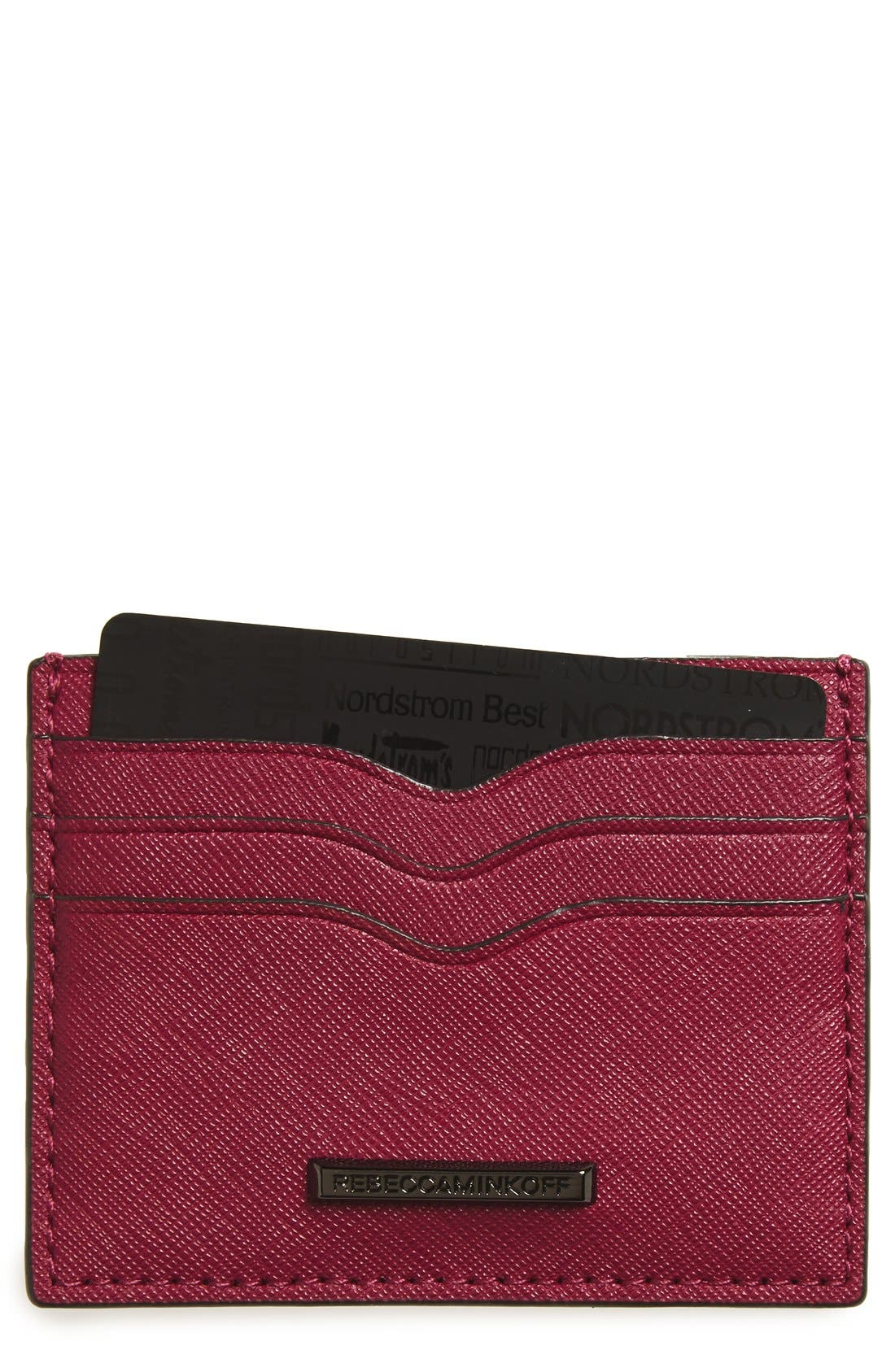 Alternate Image 1 Selected - Rebecca Minkoff Everyday Leather Card Case