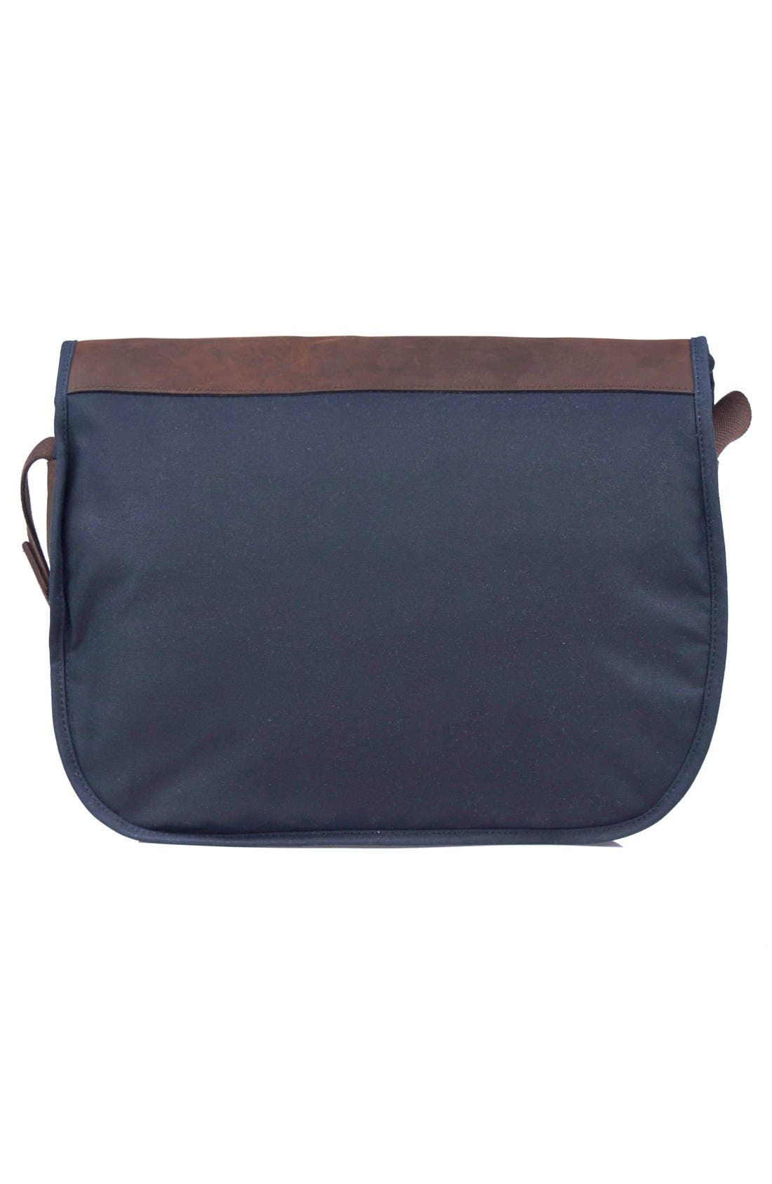 Waxed Canvas Tarras Bag,                             Alternate thumbnail 2, color,                             Navy