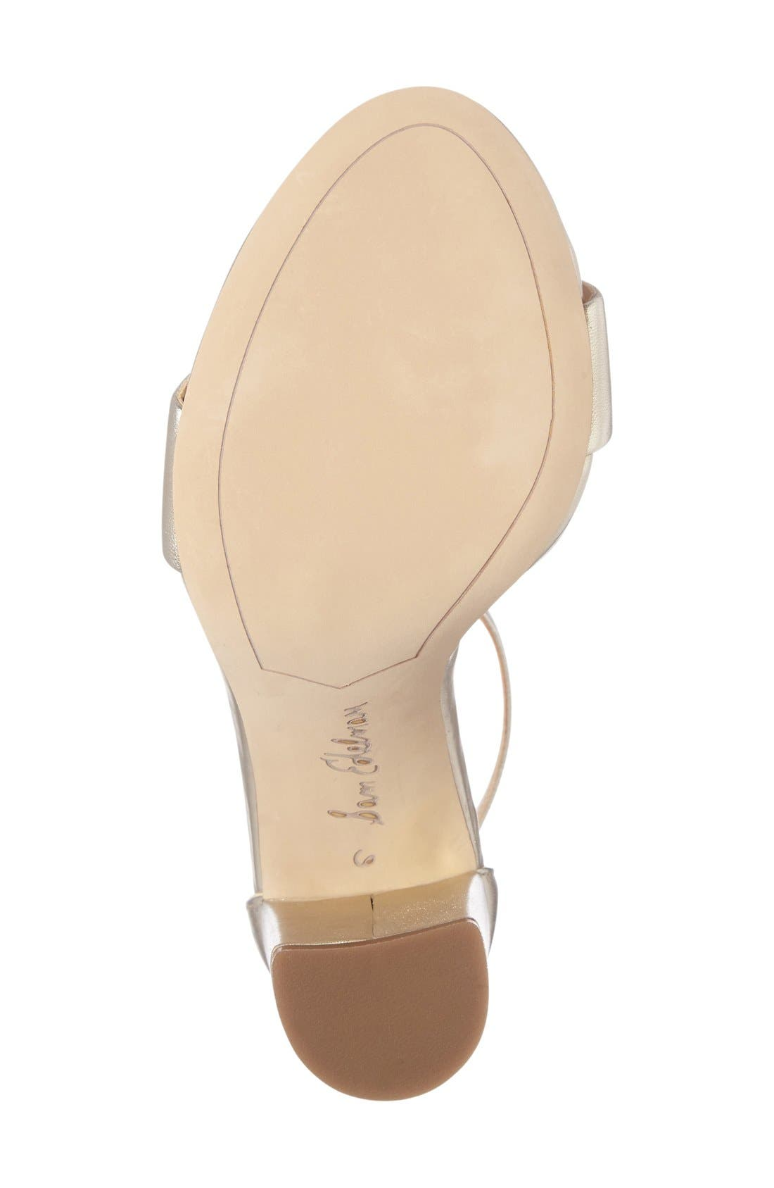 Yaro Ankle Strap Sandal,                             Alternate thumbnail 4, color,                             Jute Leather