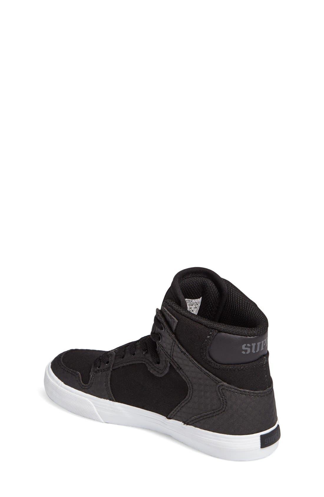 Alternate Image 2  - Supra 'Vaider' High Top Sneaker (Walker, Toddler, Little Kid & Big Kid)