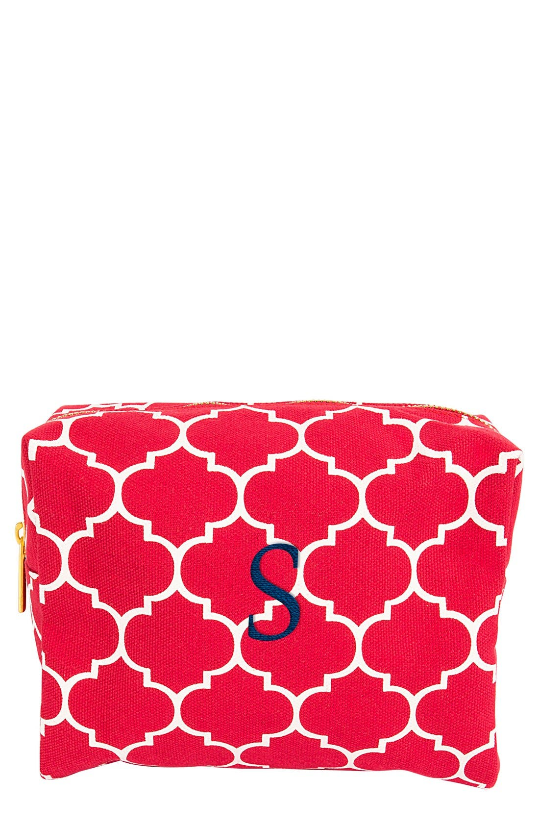 Alternate Image 1 Selected - Cathy's Concepts Monogram Cosmetics Case