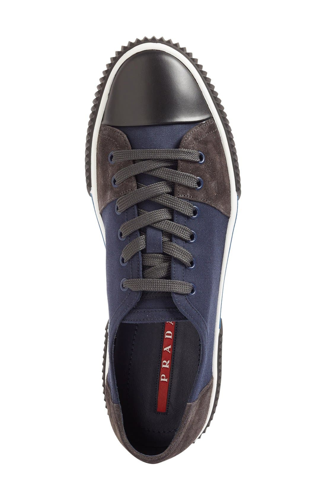 Linea Rossa Sneaker,                             Alternate thumbnail 3, color,                             Blue Fabric