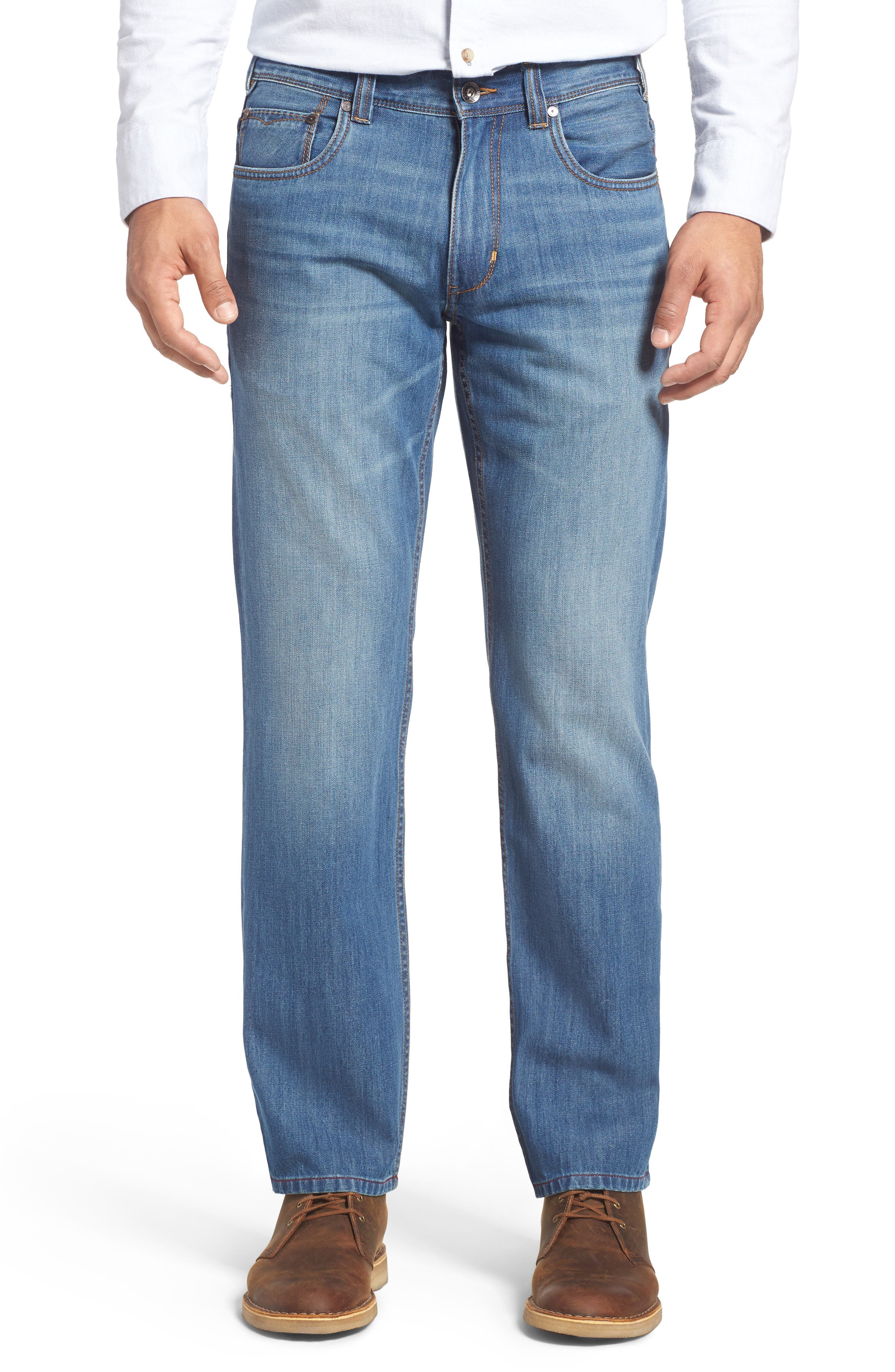 Barbados Straight Leg Jeans,                             Main thumbnail 1, color,                             Light Indigo Wash