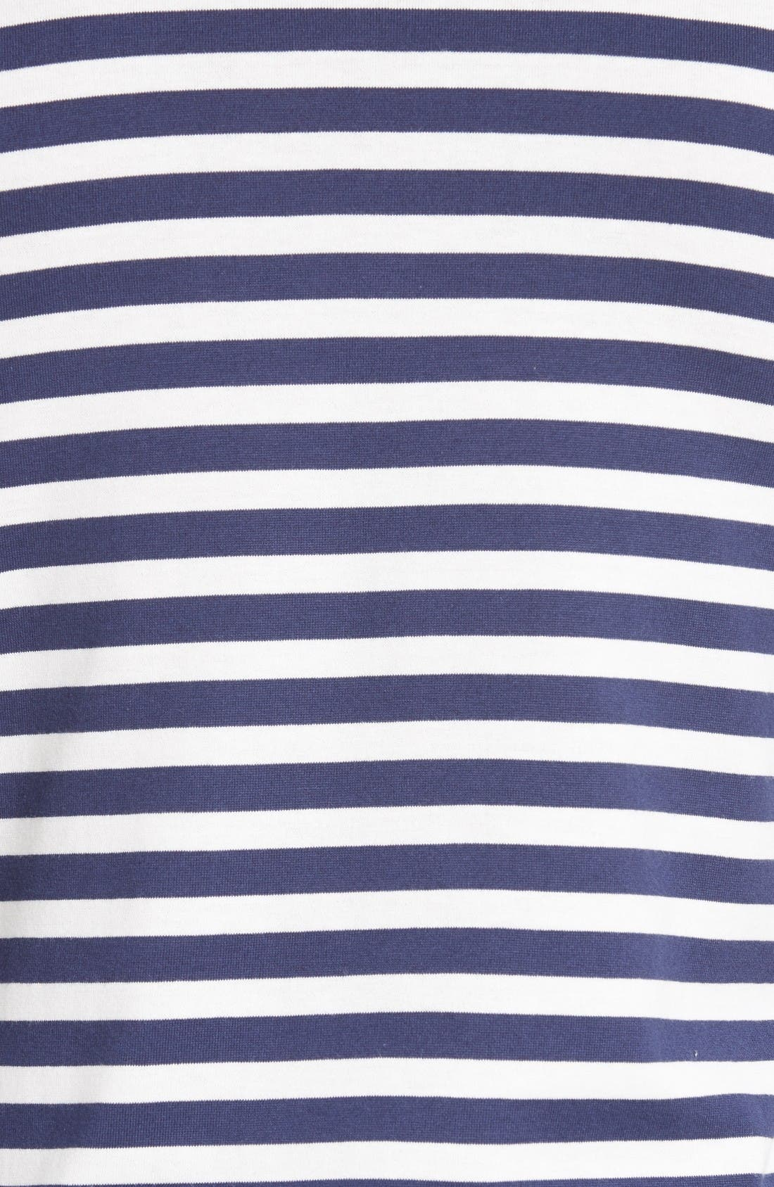 PLAY Stripe T-Shirt,                             Alternate thumbnail 5, color,                             Navy/ White