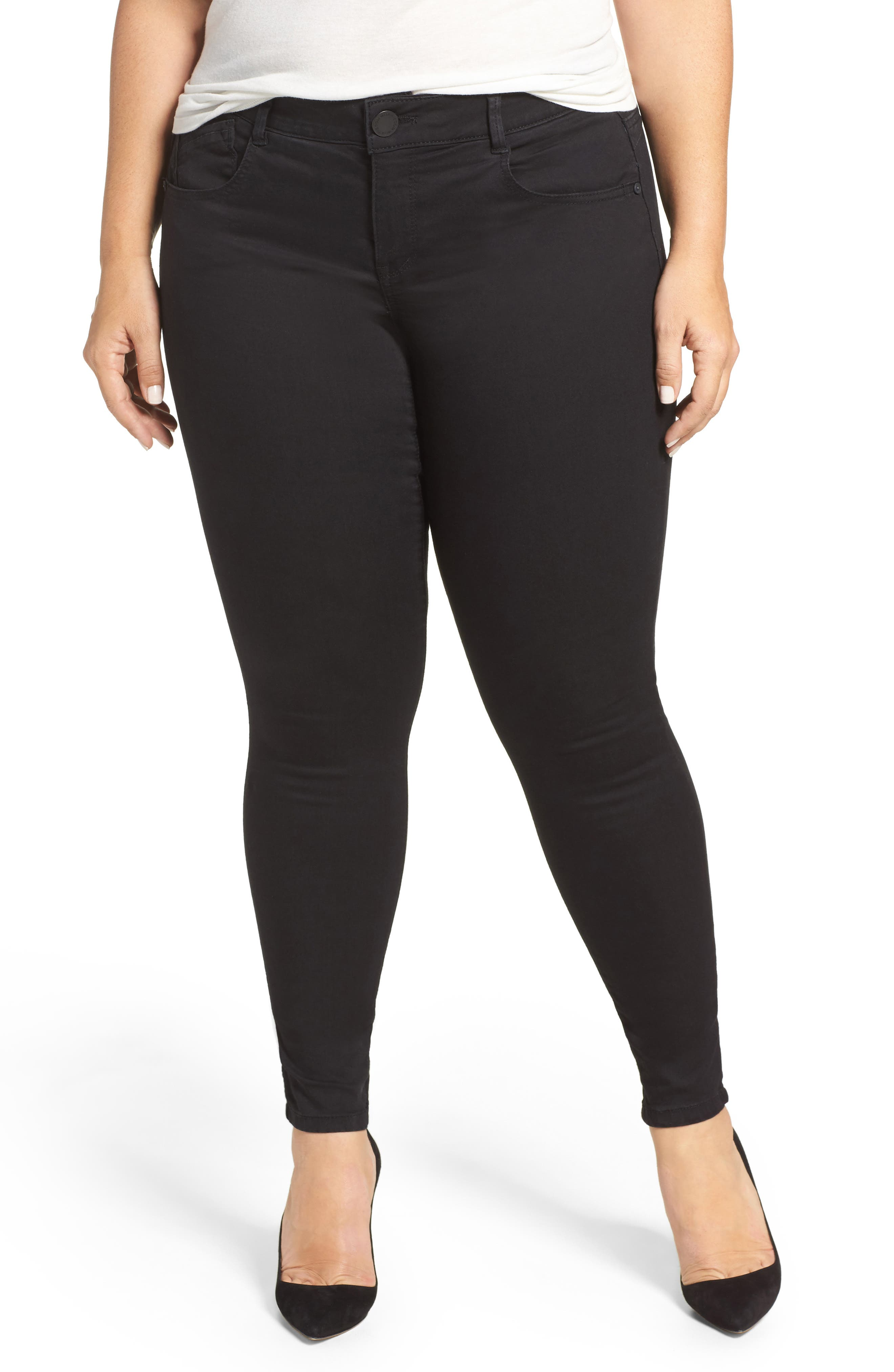 Alternate Image 1 Selected - Wit & Wisdom Ab-solution Stretch Skinny Jeans (Plus Size) (Nordstrom Exclusive)