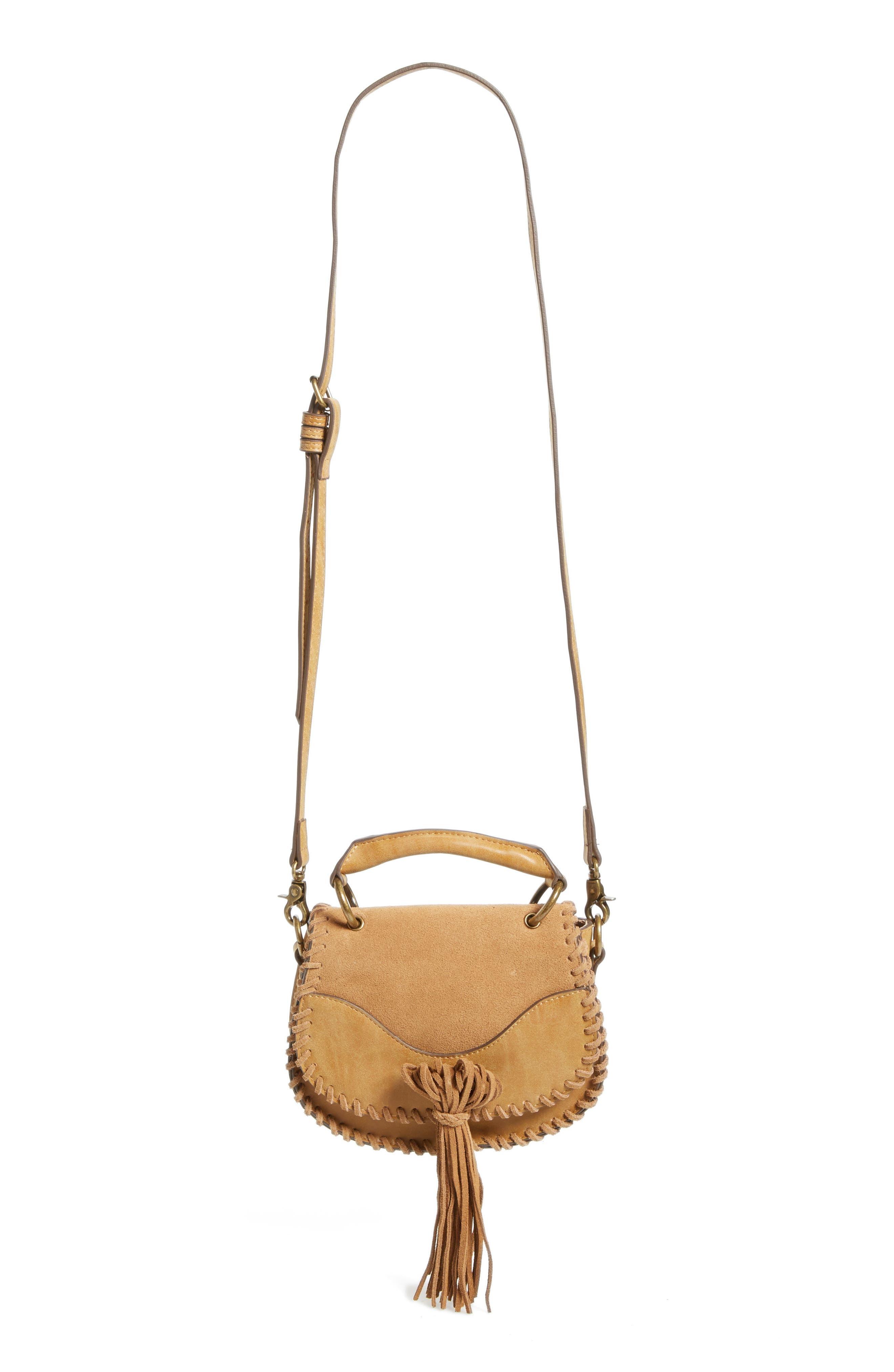 Main Image - Elle & Jae Gypset Mini Madrid Faux Leather Top Handle Saddle Bag
