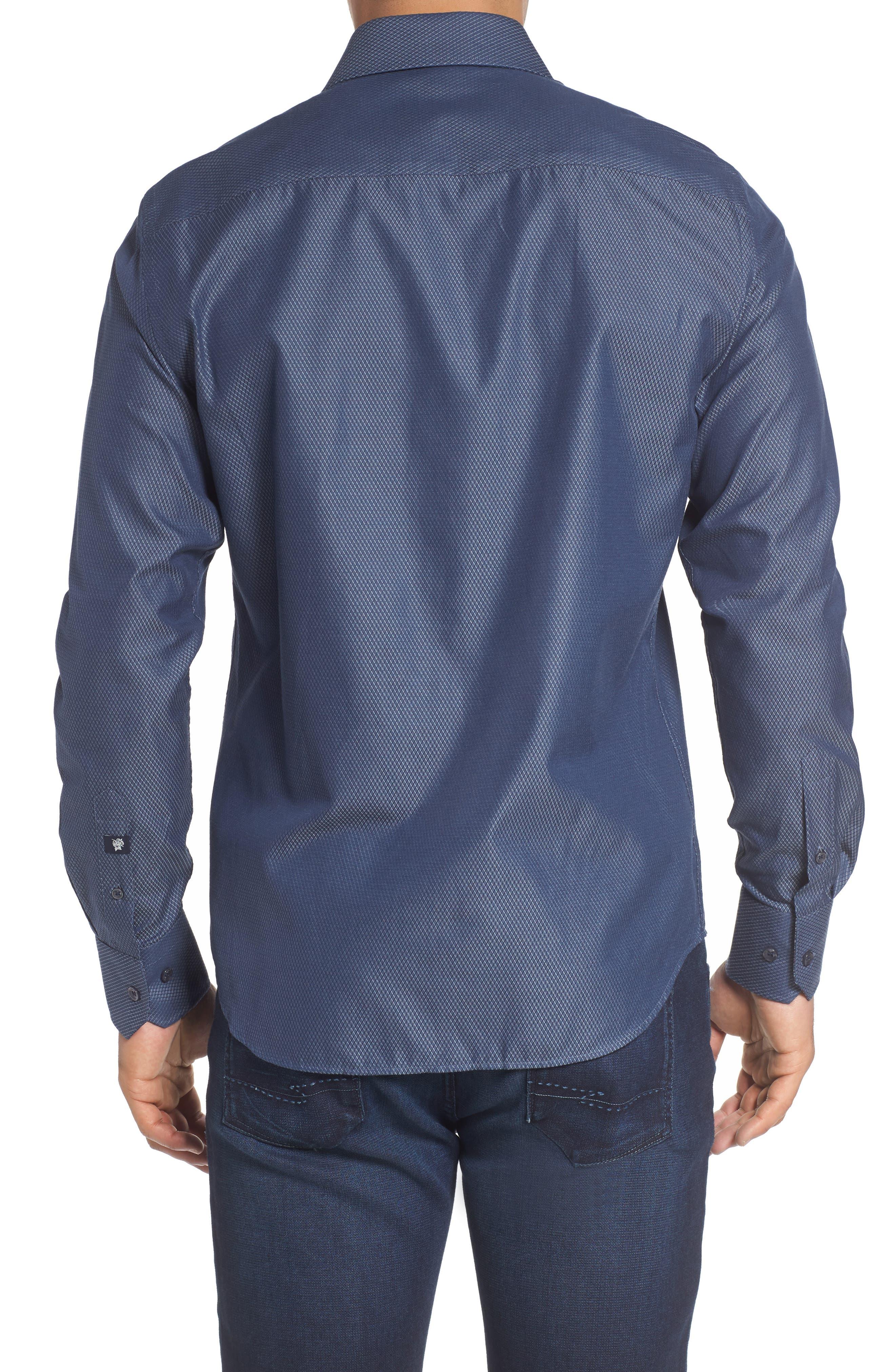 Alternate Image 2  - Stone Rose Slim Fit Diamond Jacquard Sport Shirt