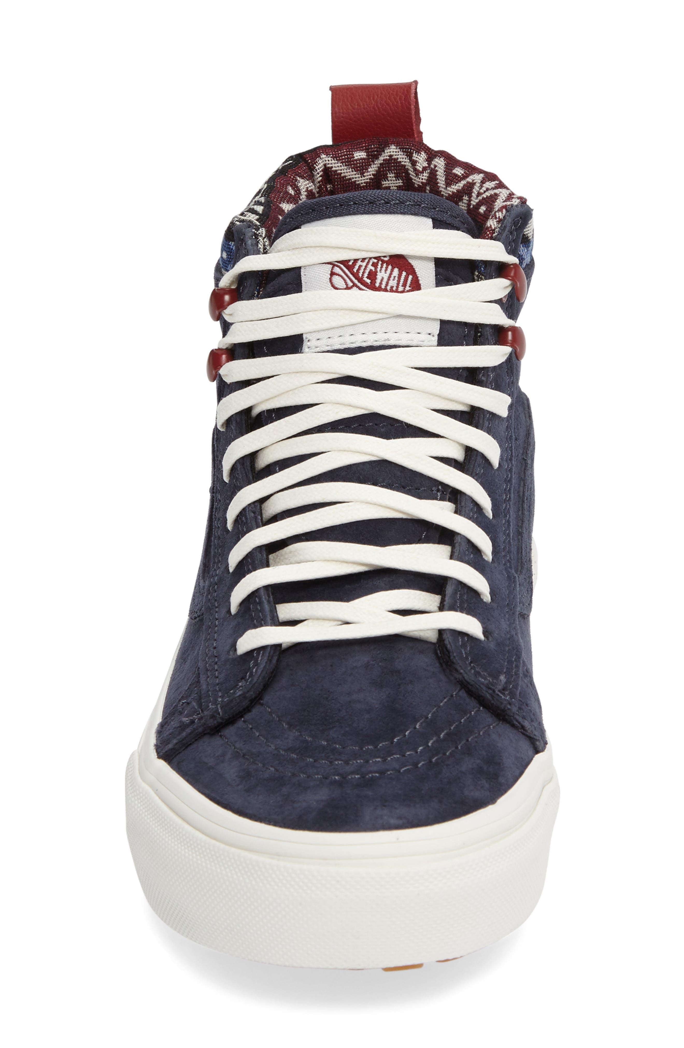 Sk-8 Hi MTE Sneaker,                             Alternate thumbnail 3, color,                             Parisian Night/ Blue Suede