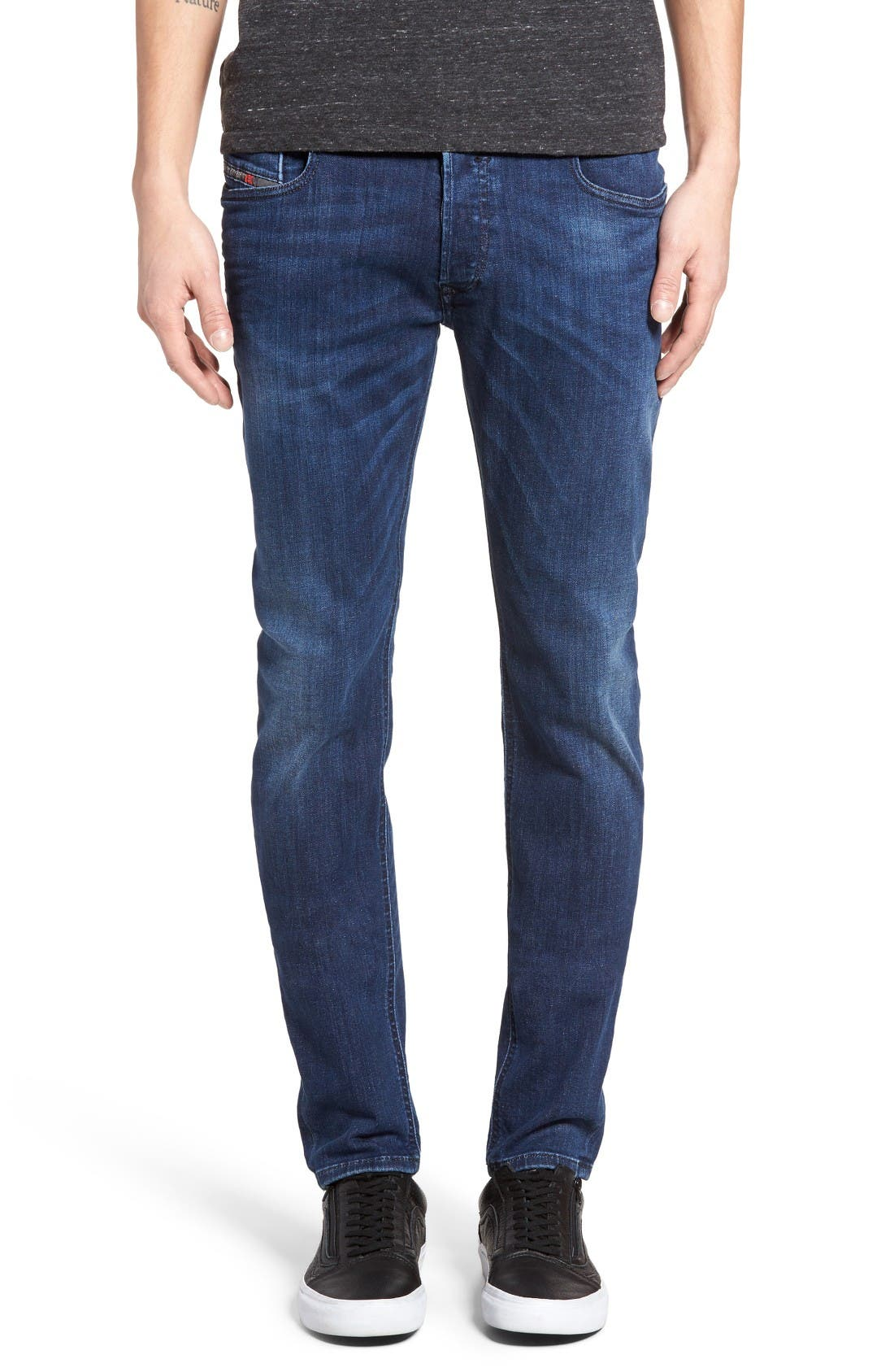 Alternate Image 1 Selected - DIESEL® Sleenker Skinny Fit Jeans (0679K)