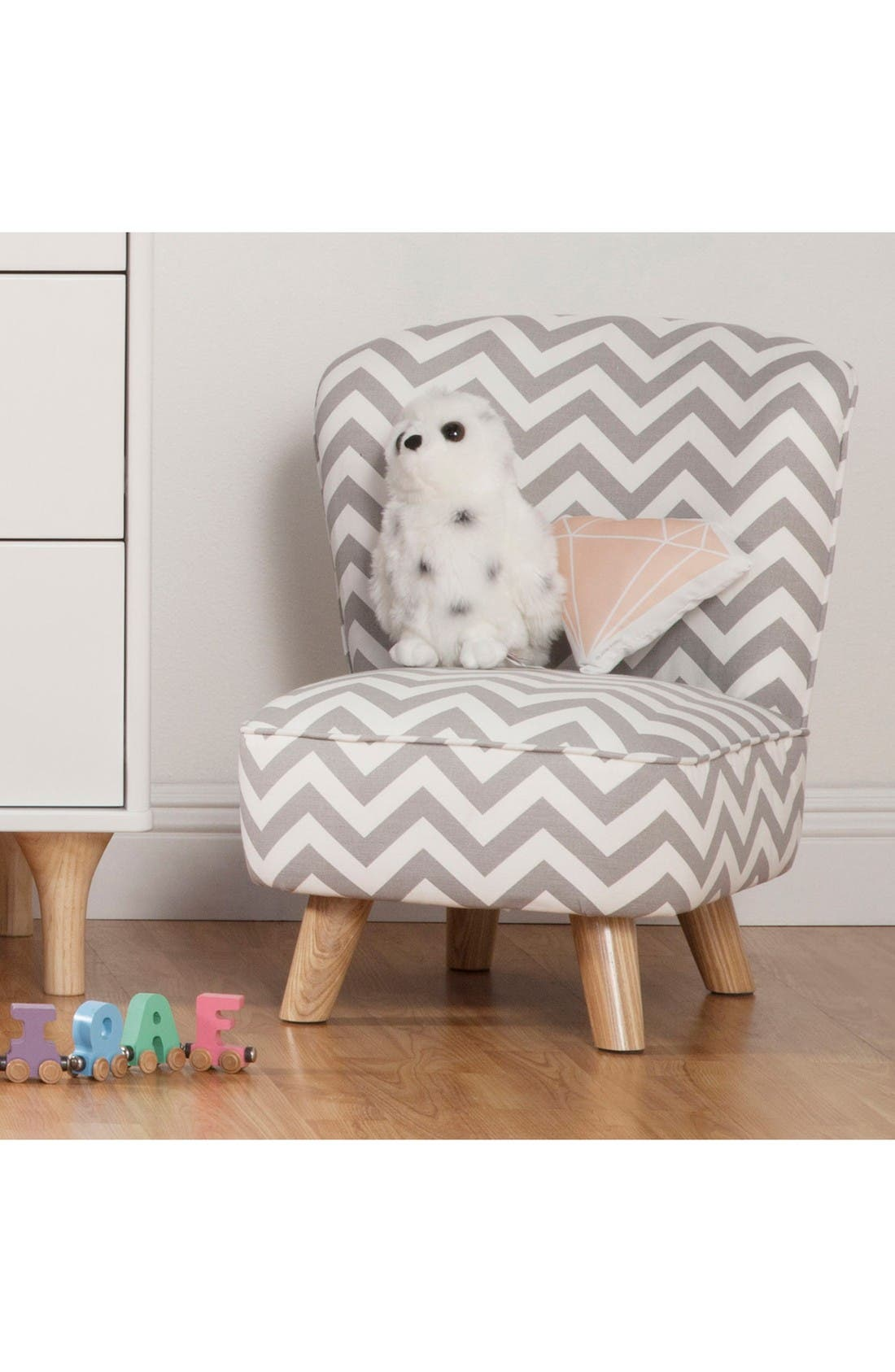 Pop Mini Chair,                         Main,                         color, Chevron Grey
