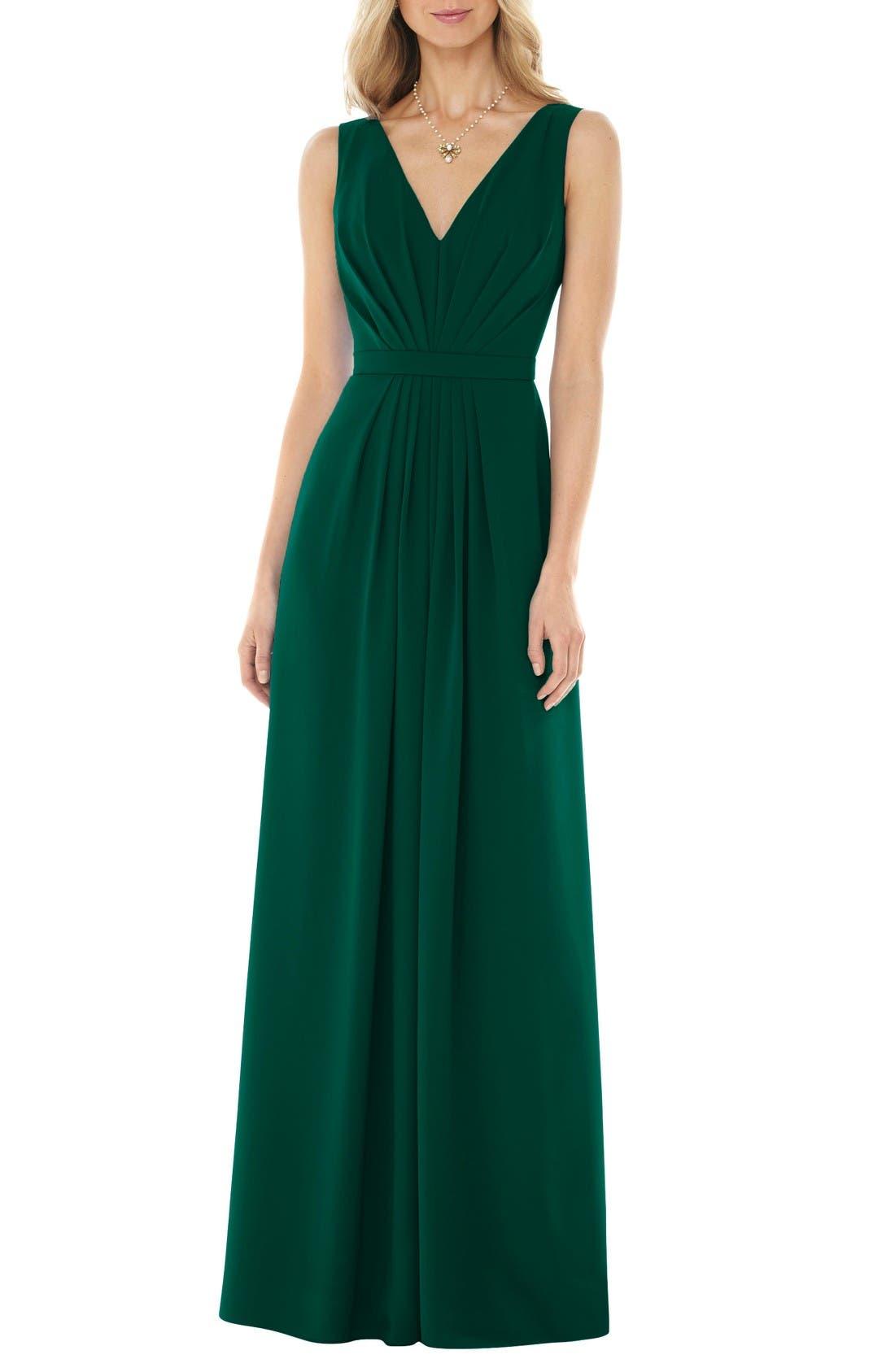Main Image - Social Bridesmaids V-Neck Georgette Gown