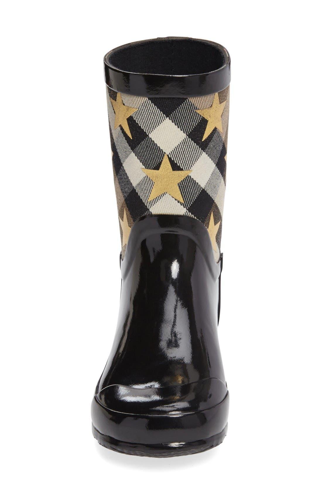 Ranmoor Star Rain Boot,                             Alternate thumbnail 3, color,                             Black