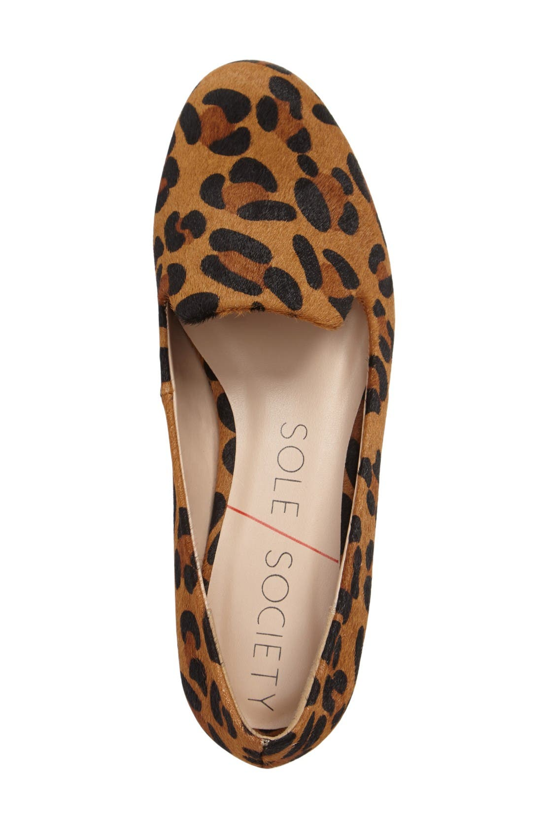 Nitsa Genuine Calf Hair Loafer,                             Alternate thumbnail 3, color,                             Leopard