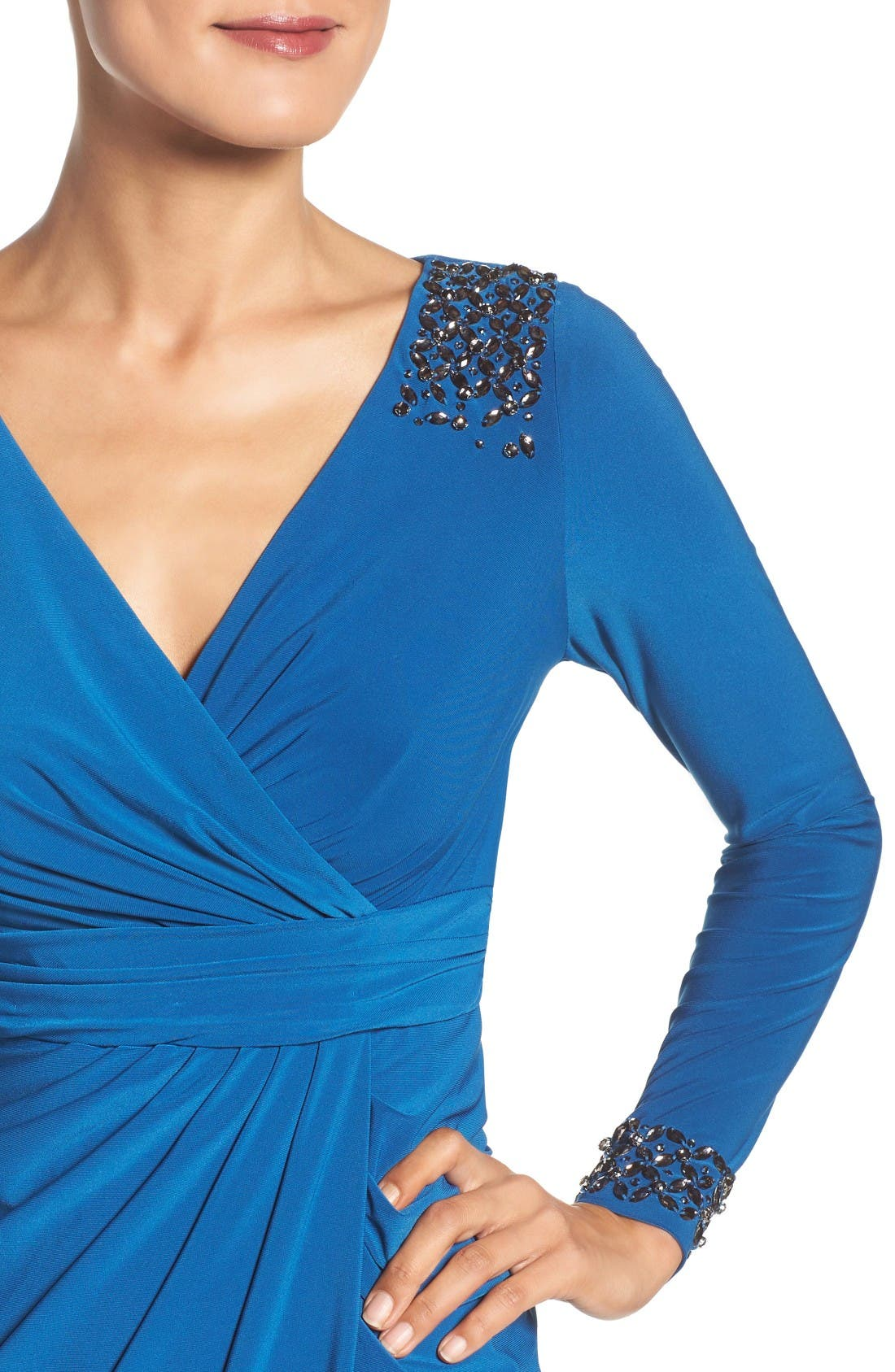 Alternate Image 4  - Adrianna Papell Embellished Wrap Dress (Regular & Petite)