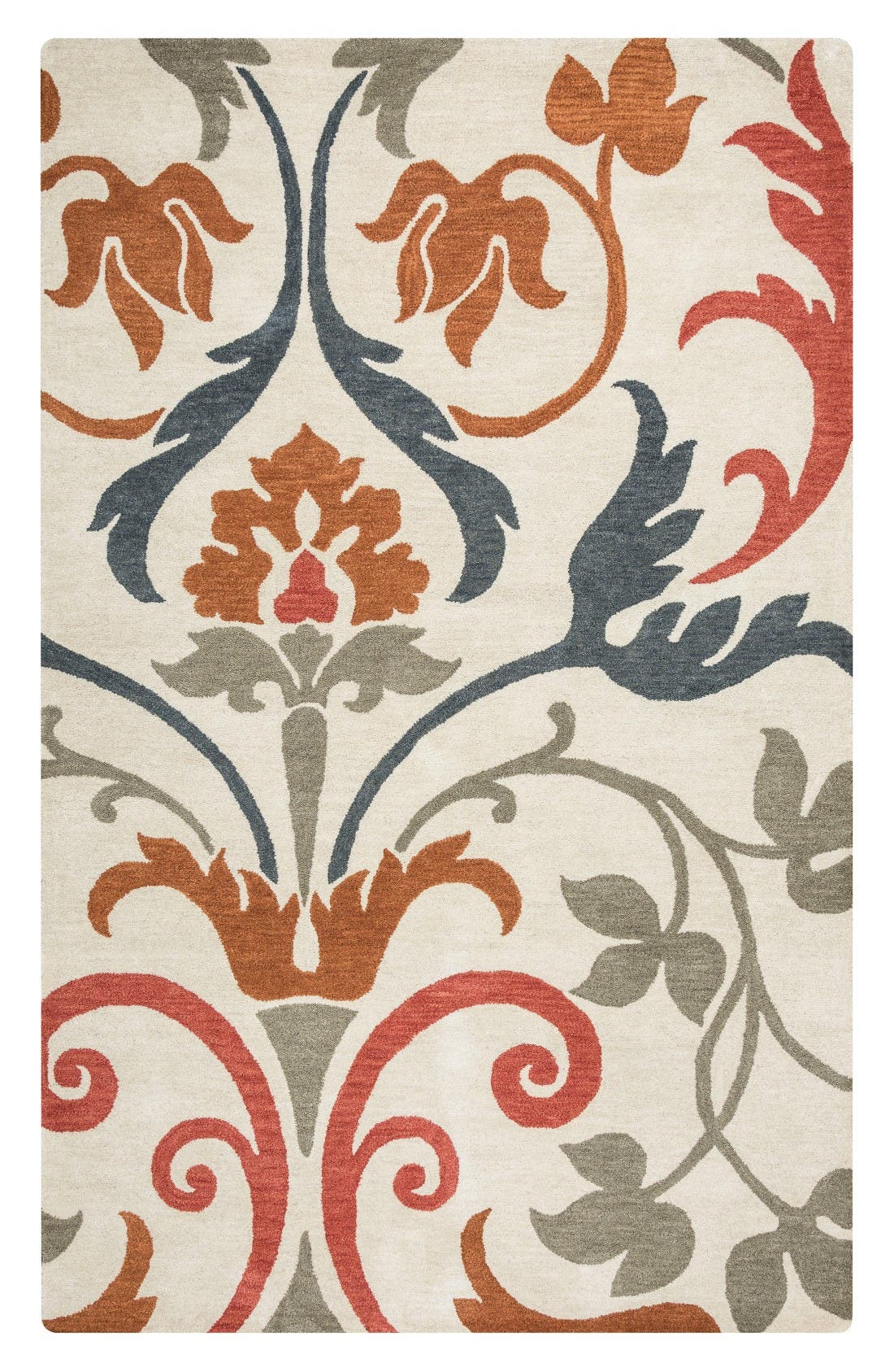 Zoe Hand Tufted Wool Area Rug,                             Main thumbnail 1, color,                             Ivory/ Multi