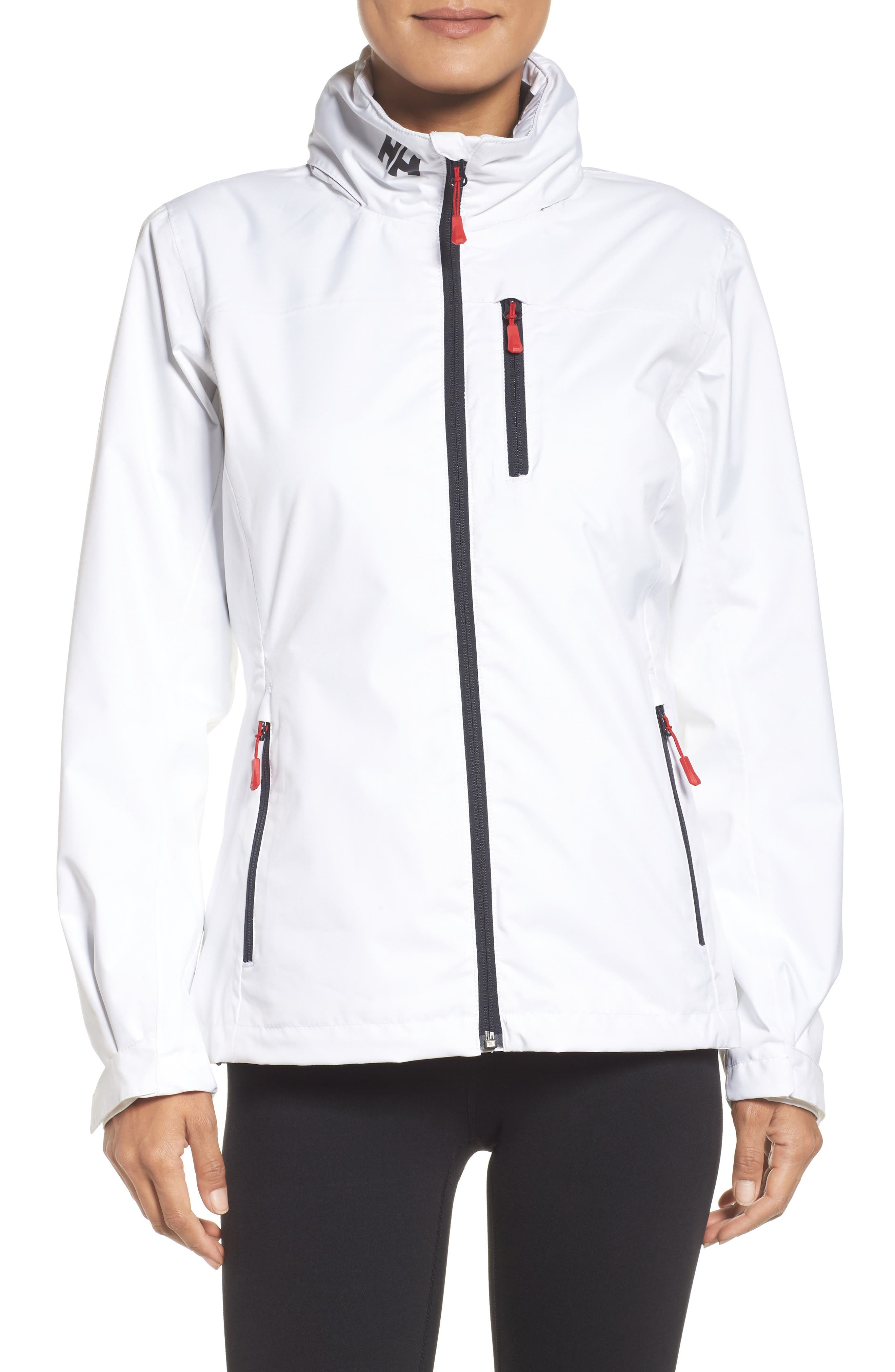 Crew Waterproof Jacket,                         Main,                         color, White
