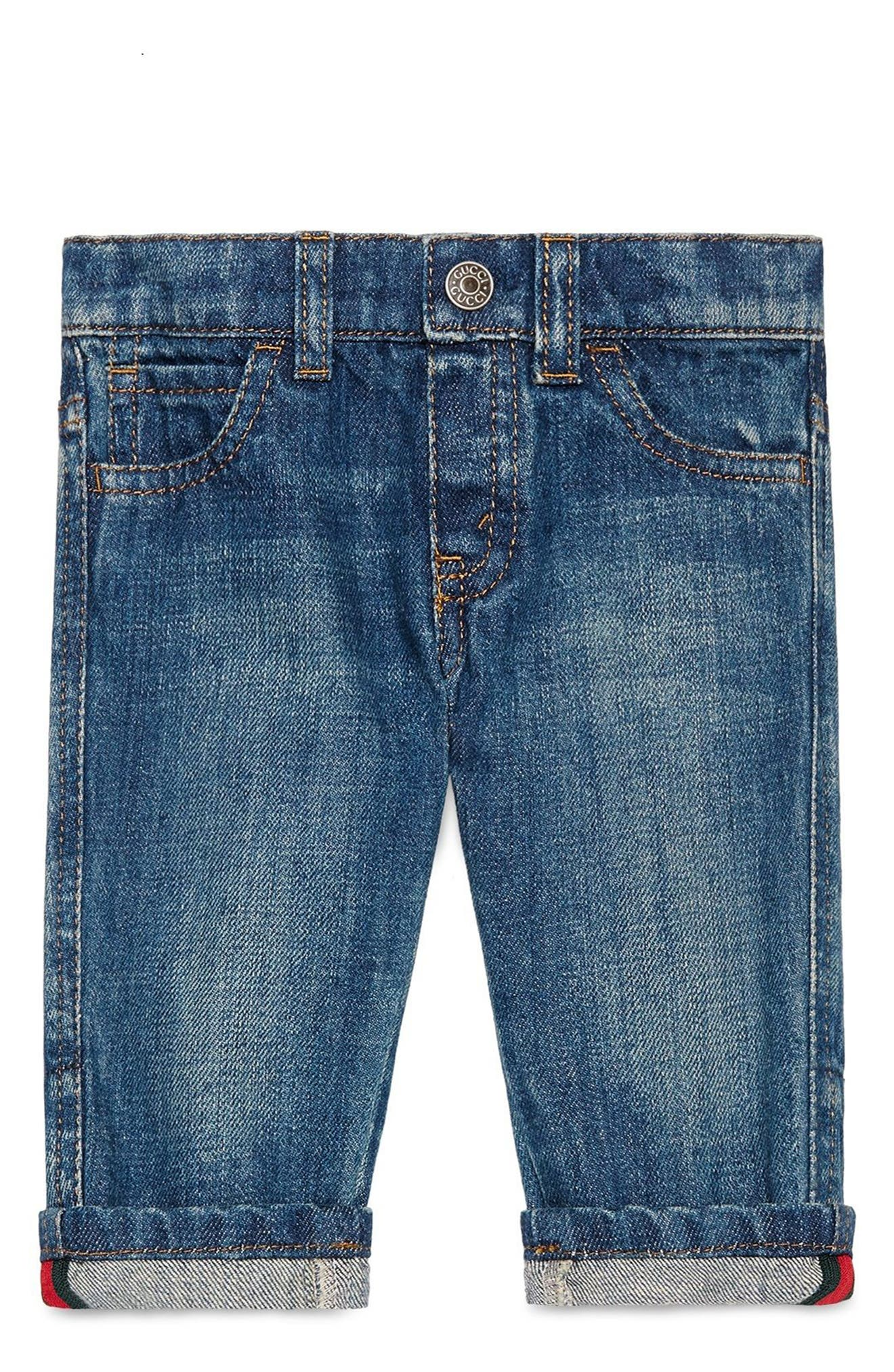 Alternate Image 1 Selected - Gucci Straight Leg Jeans (Baby Boys & Toddler Boys)