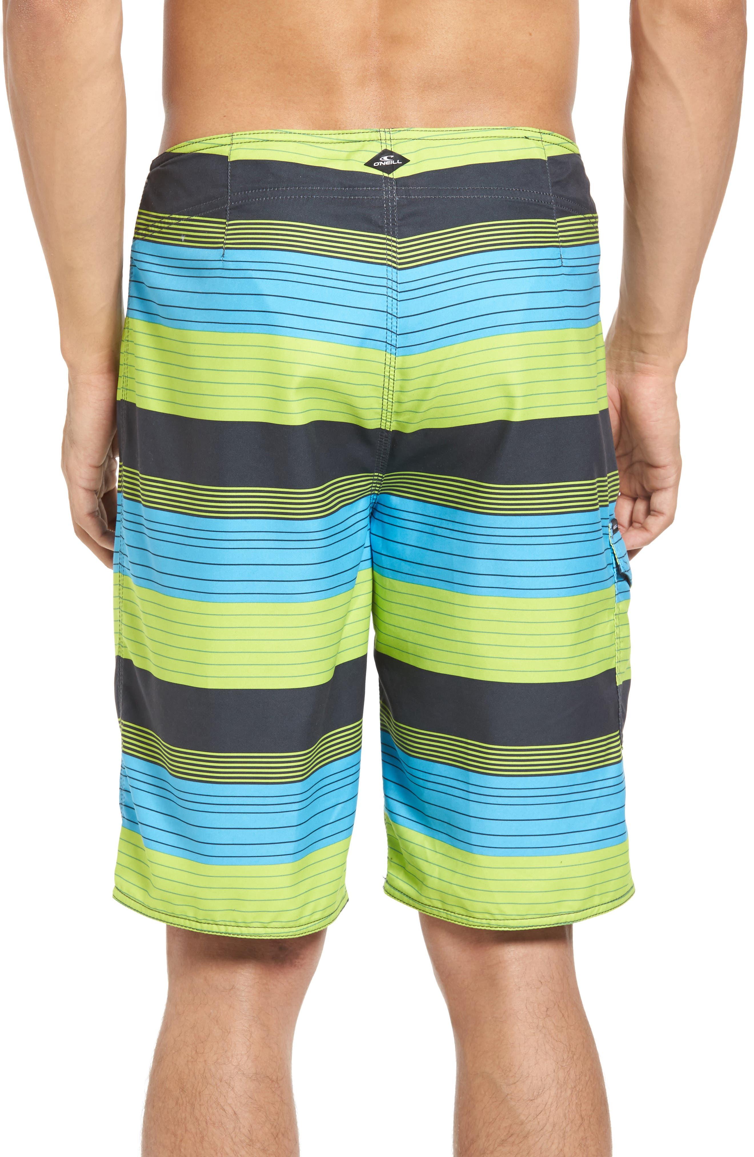 Santa Cruz Stripe Board Shorts,                             Alternate thumbnail 2, color,                             Lime